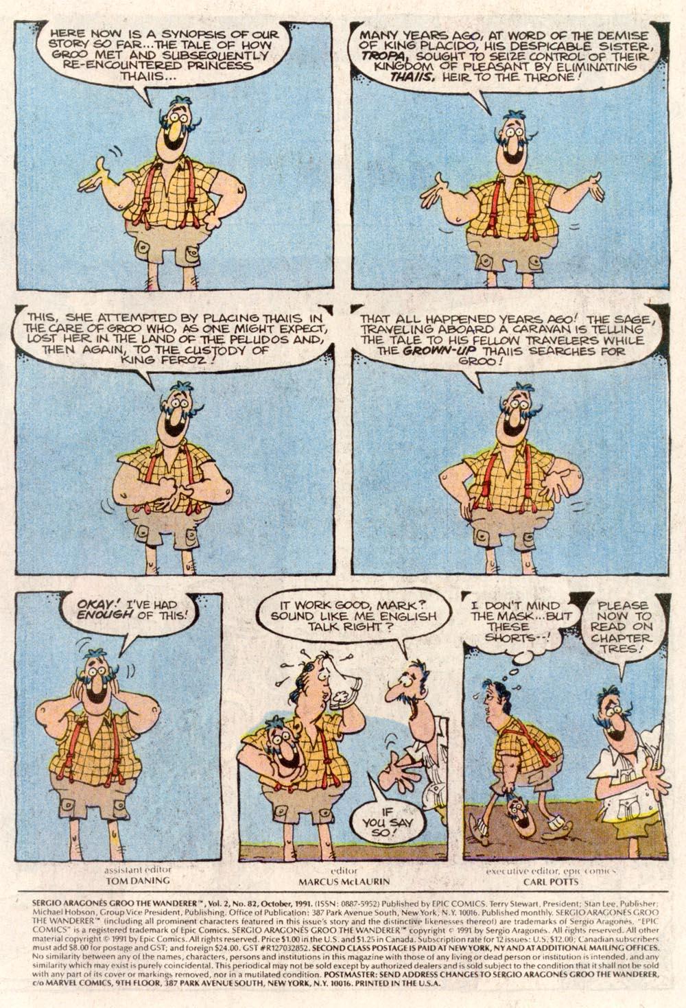 Read online Sergio Aragonés Groo the Wanderer comic -  Issue #82 - 2