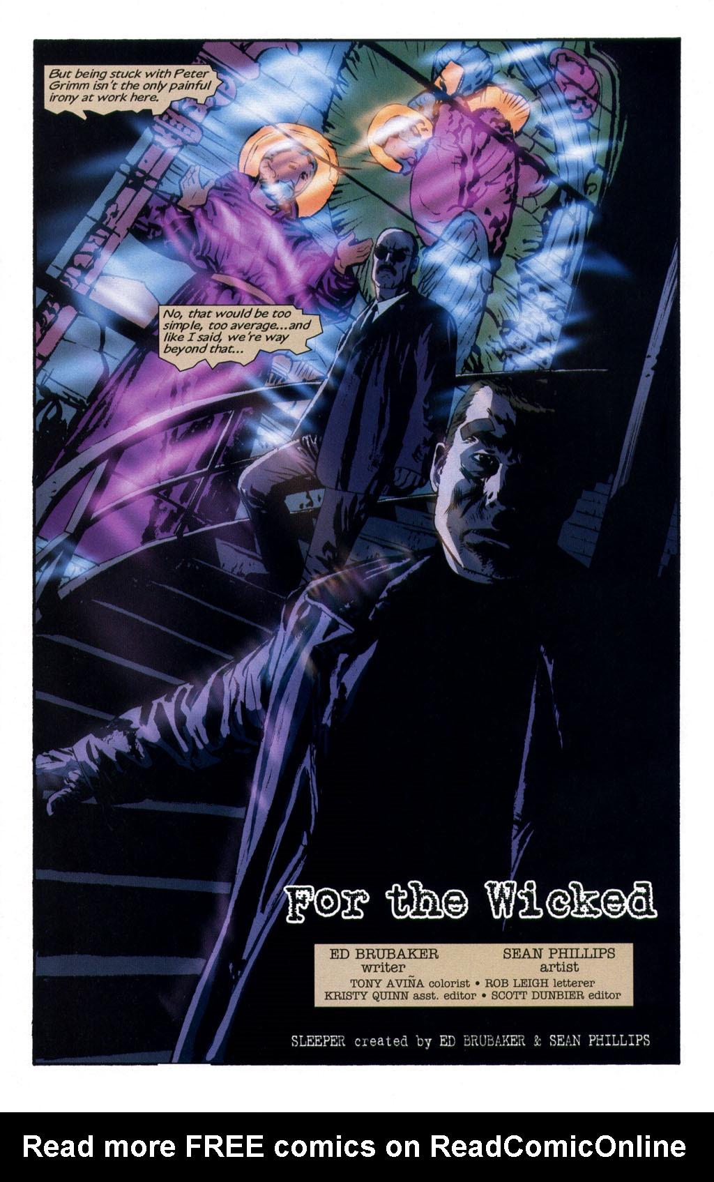 Read online Sleeper comic -  Issue #9 - 5
