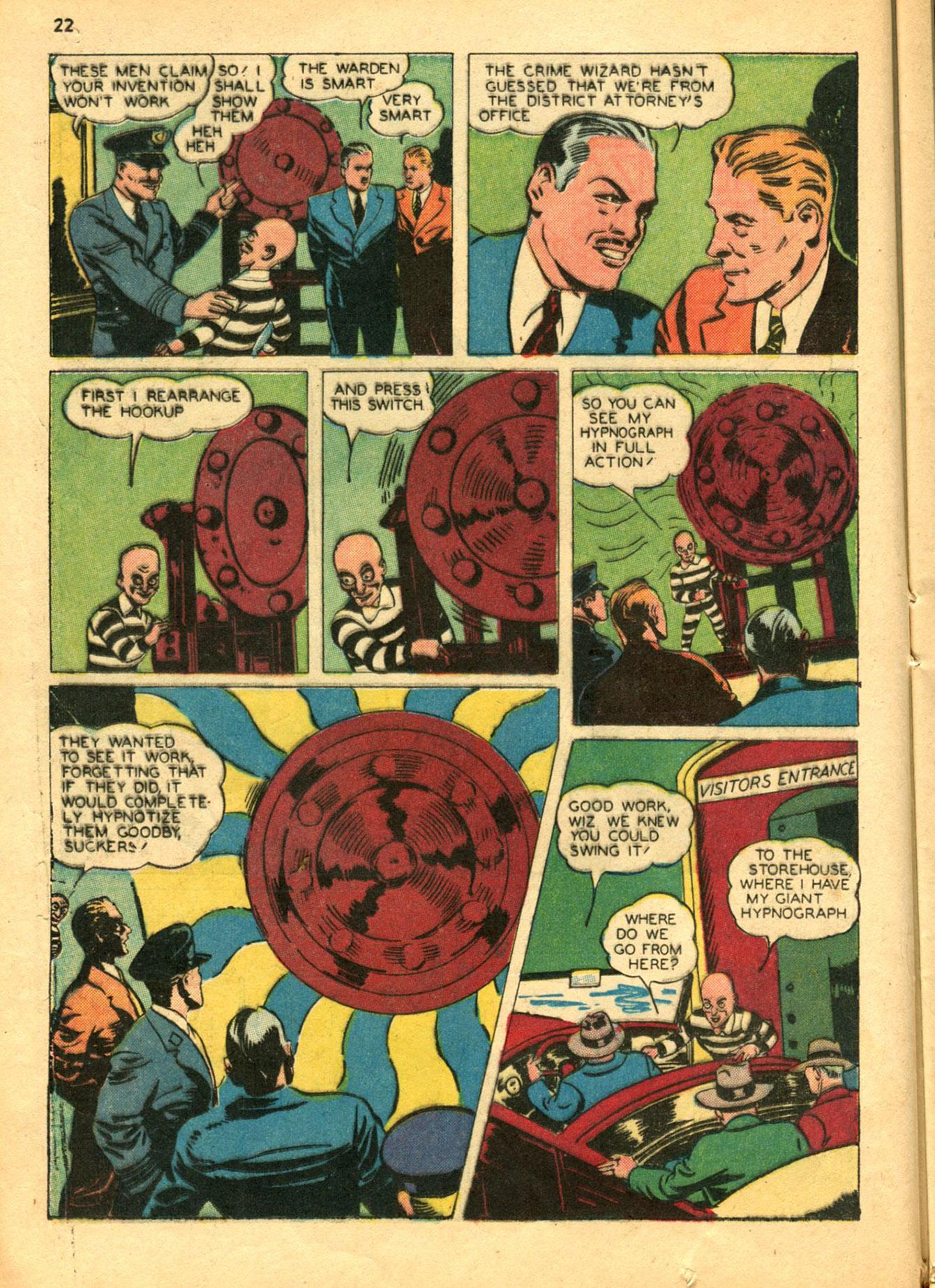 Read online Shadow Comics comic -  Issue #30 - 22