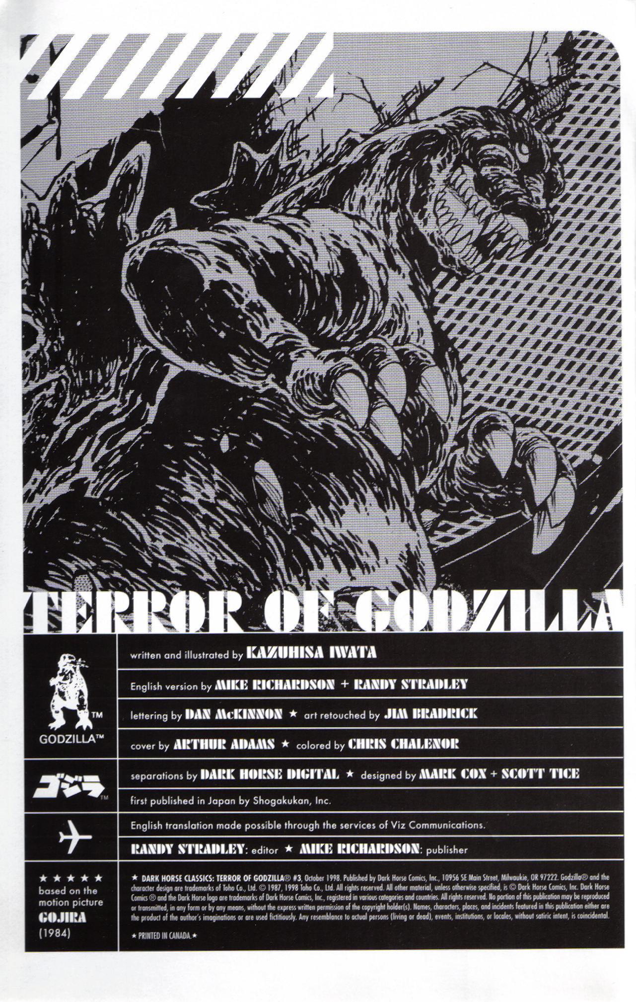 Read online Dark Horse Classics: Terror of Godzilla comic -  Issue #3 - 2