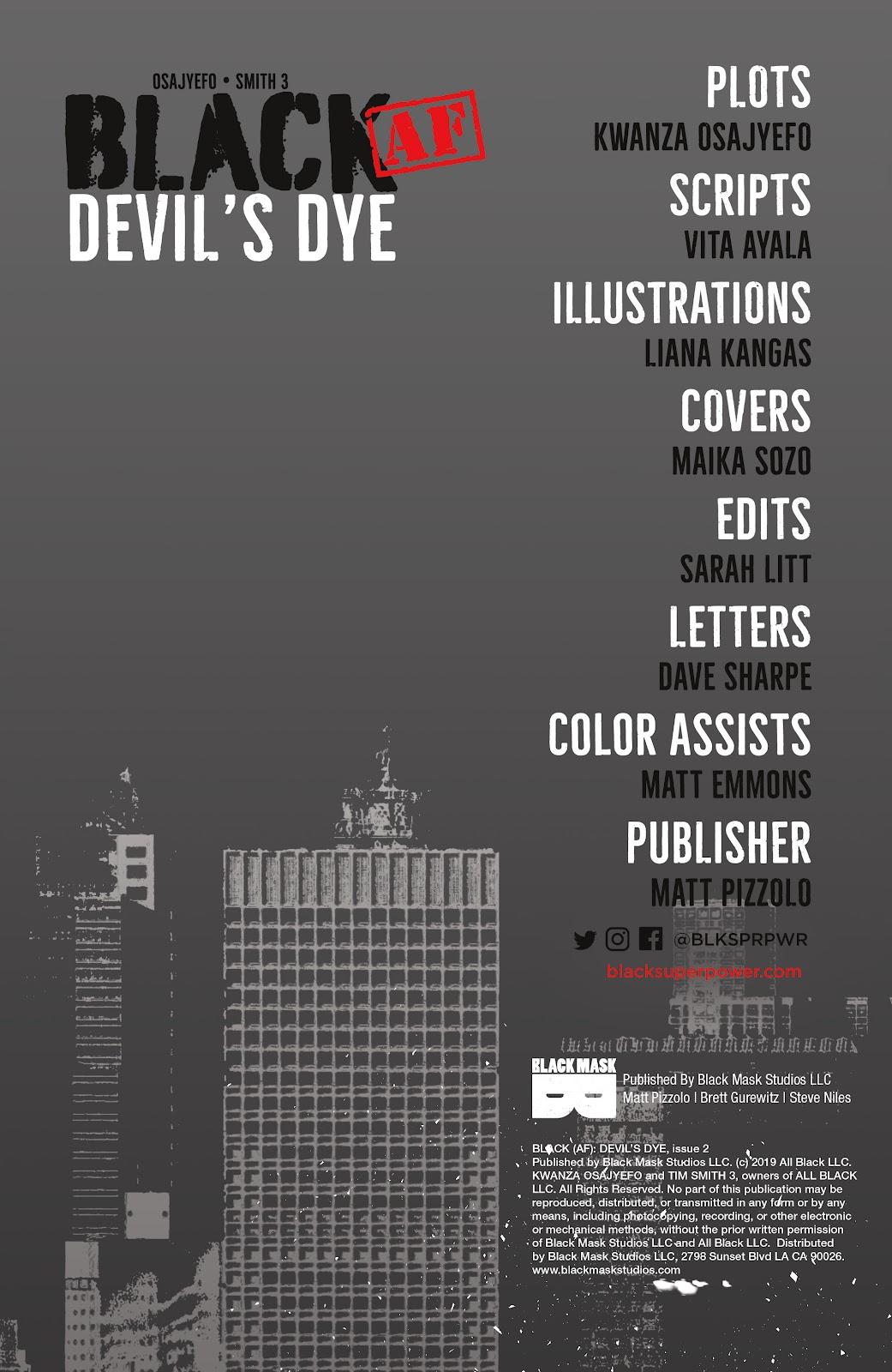 Read online Black (AF): Devil's Dye comic -  Issue #2 - 2