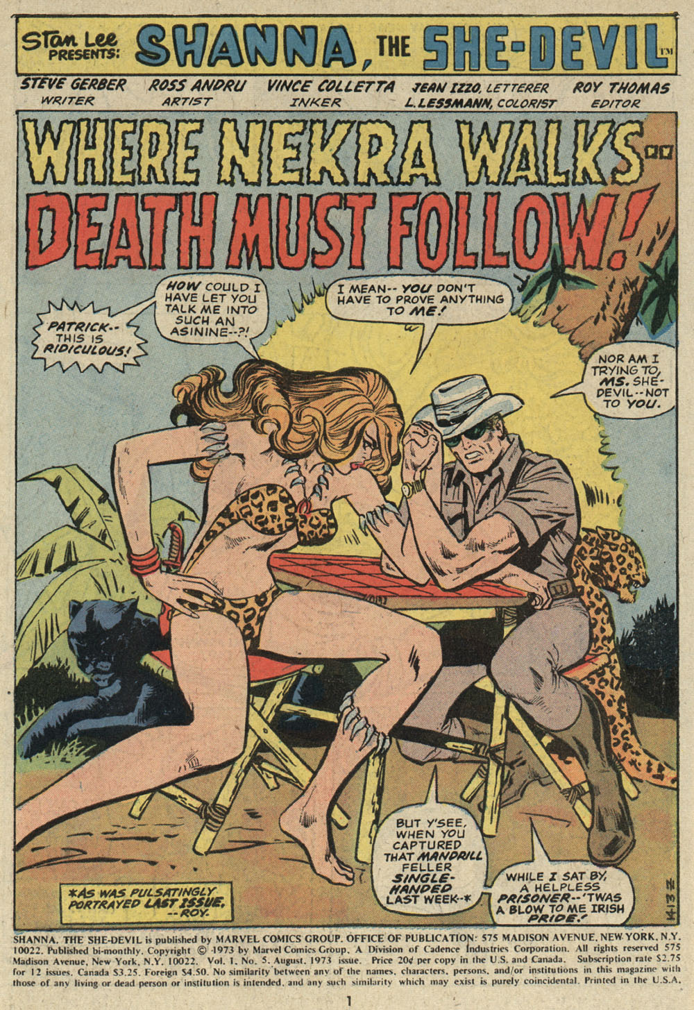 Read online Shanna, the She-Devil (1972) comic -  Issue #5 - 2