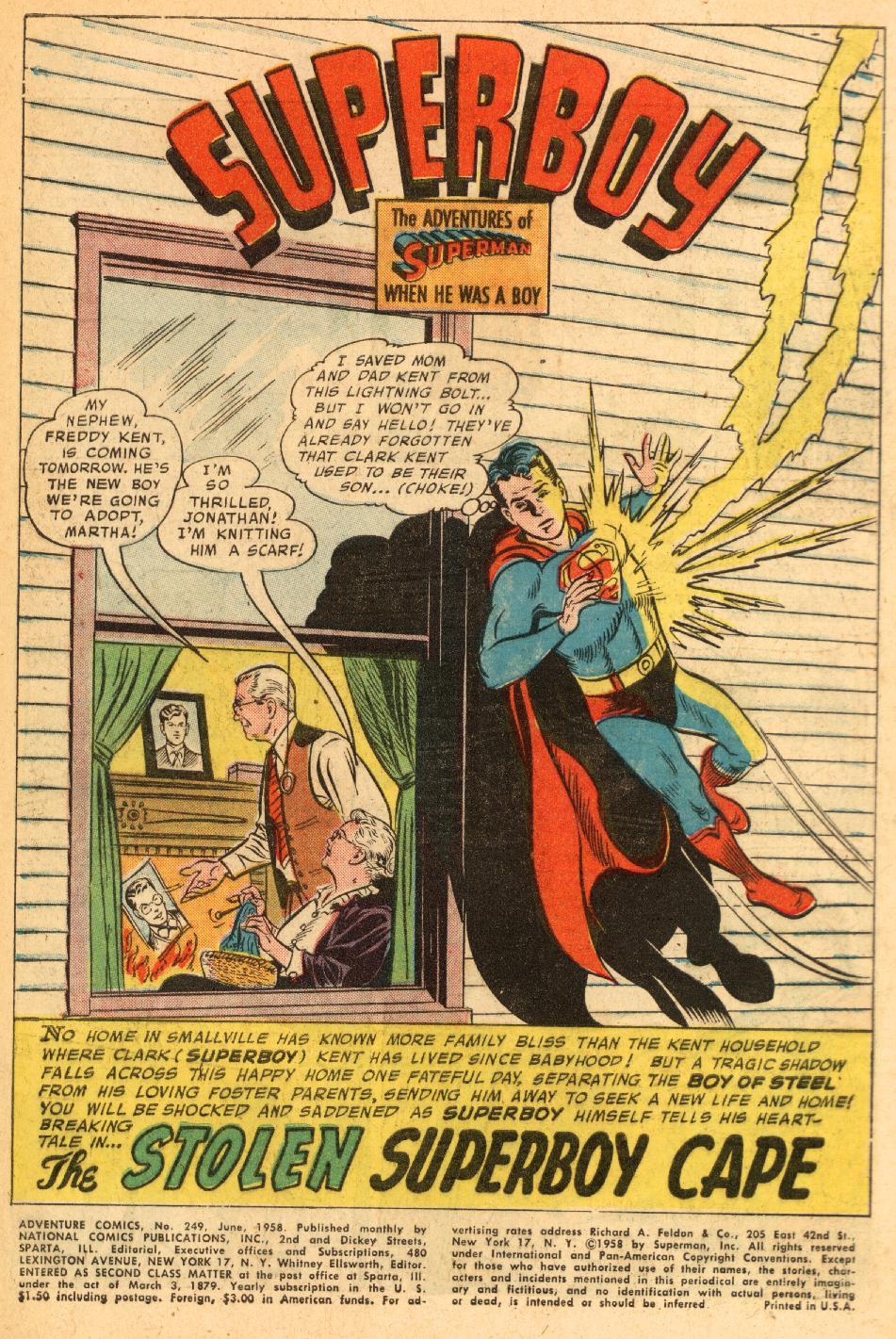 Read online Adventure Comics (1938) comic -  Issue #249 - 3