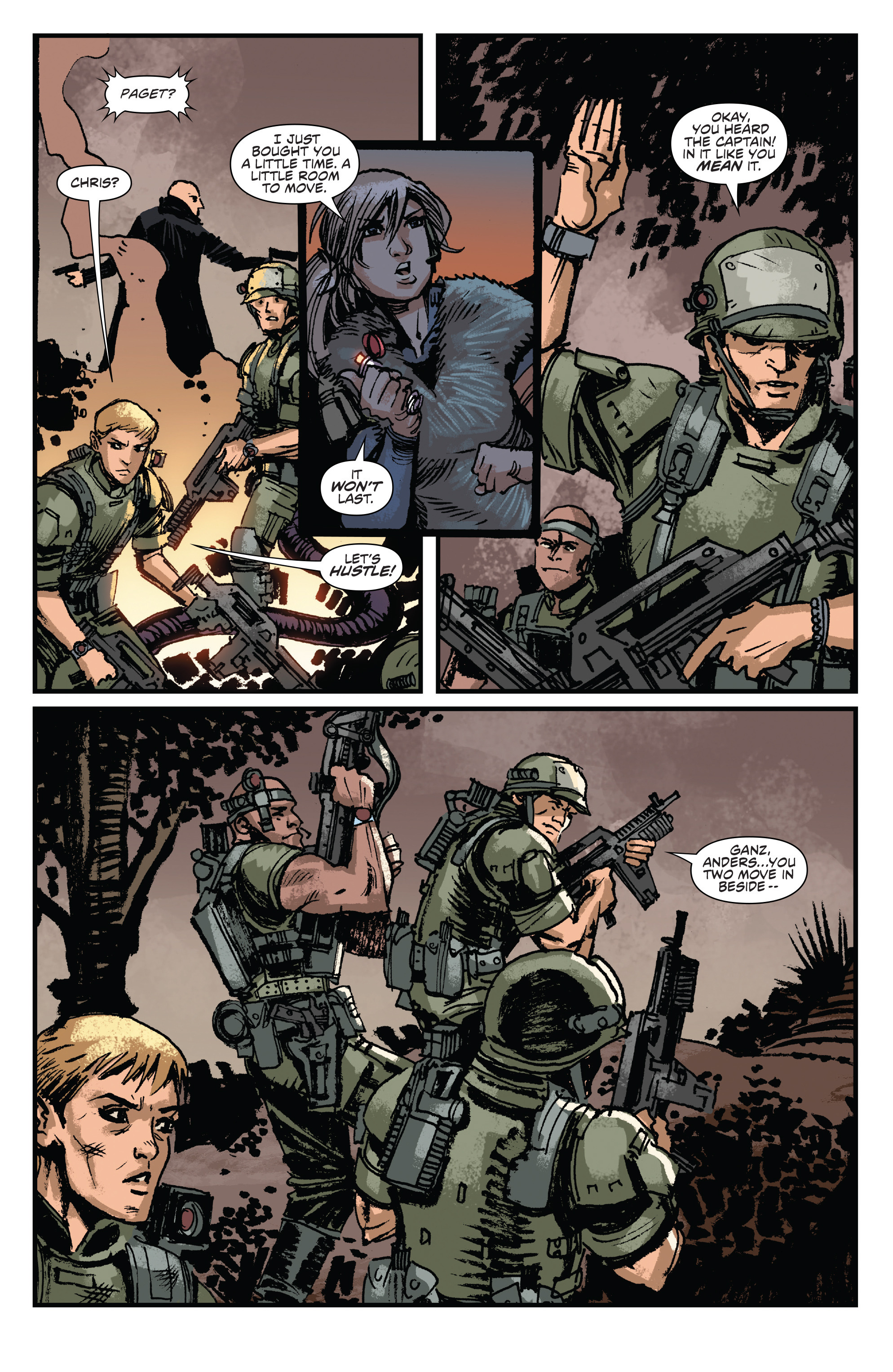 Read online Aliens: Life And Death comic -  Issue #3 - 23