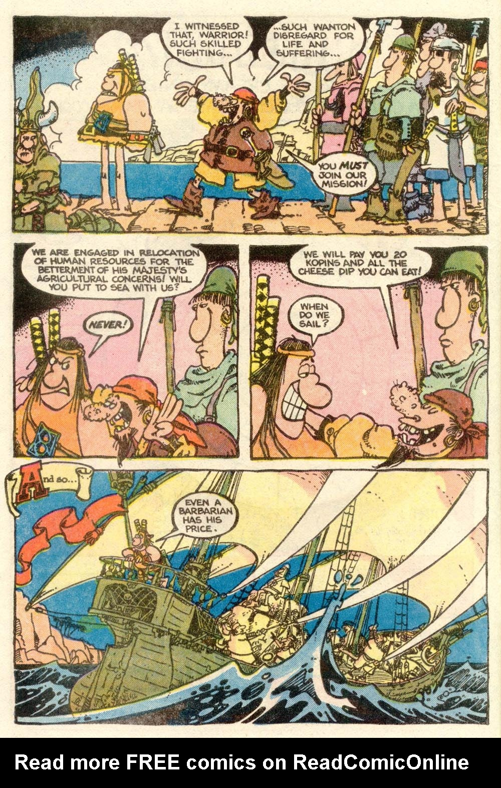 Read online Sergio Aragonés Groo the Wanderer comic -  Issue #5 - 5