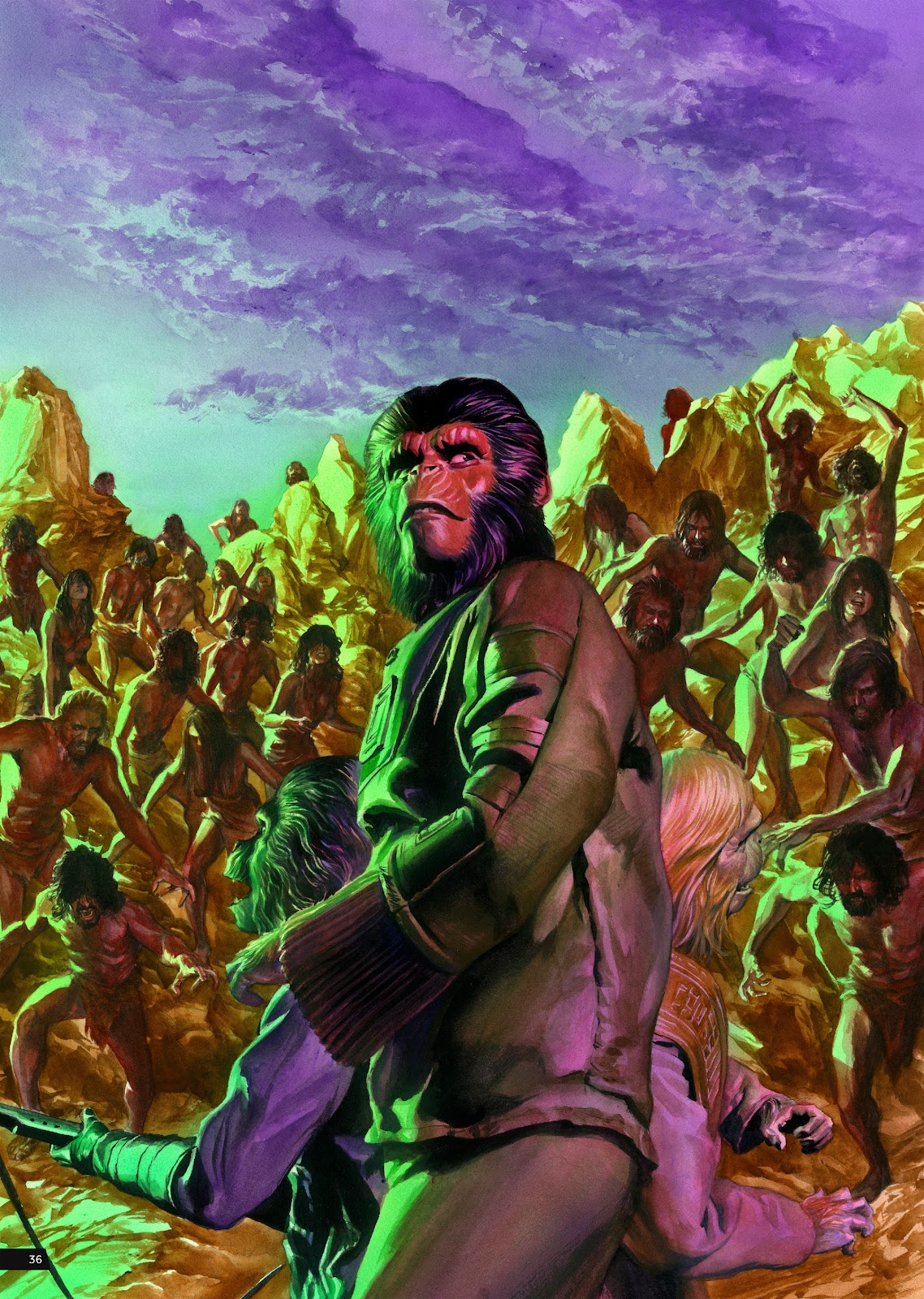 Read online Planet of the Apes Artist Tribute comic -  Issue # TPB - 36