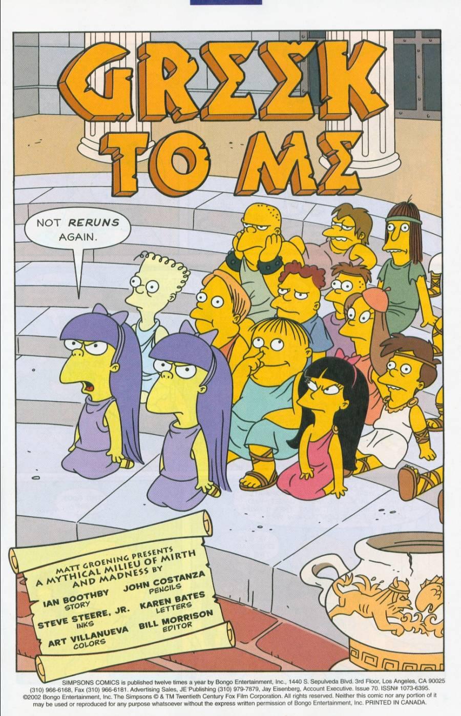 Read online Simpsons Comics comic -  Issue #70 - 2