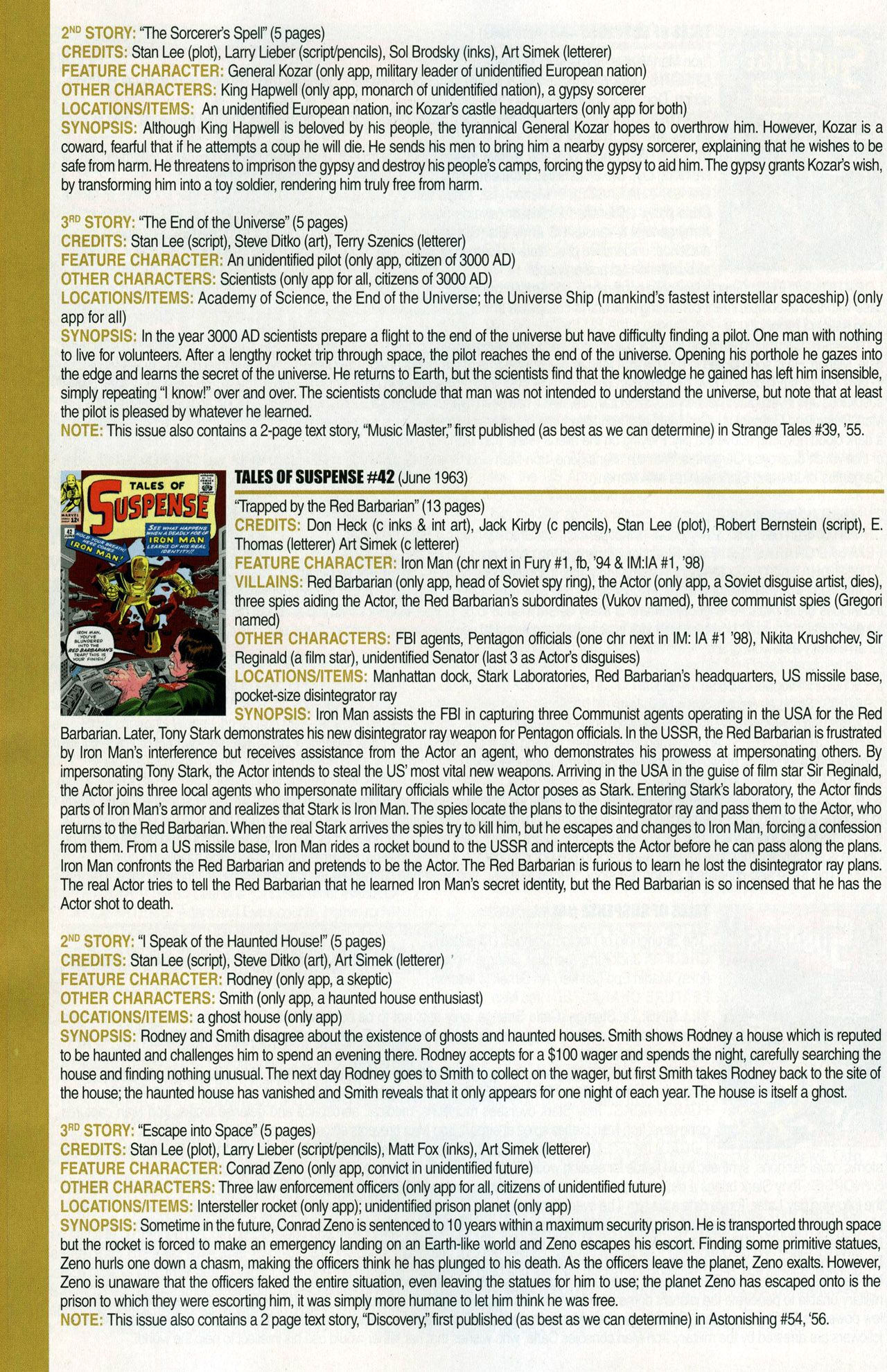 Read online Official Index to the Marvel Universe comic -  Issue #1 - 26