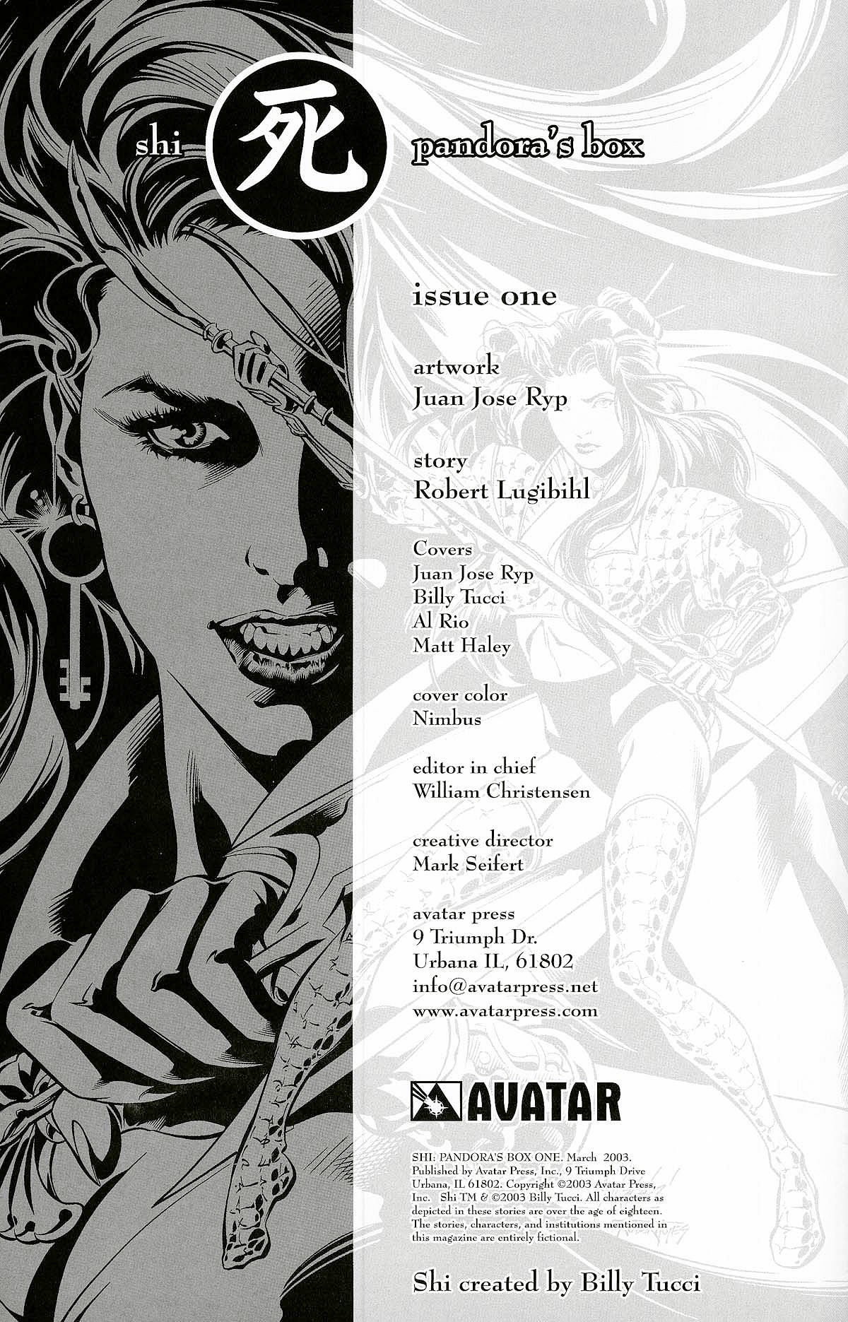 Read online Shi: Pandora's Box comic -  Issue #1 - 2