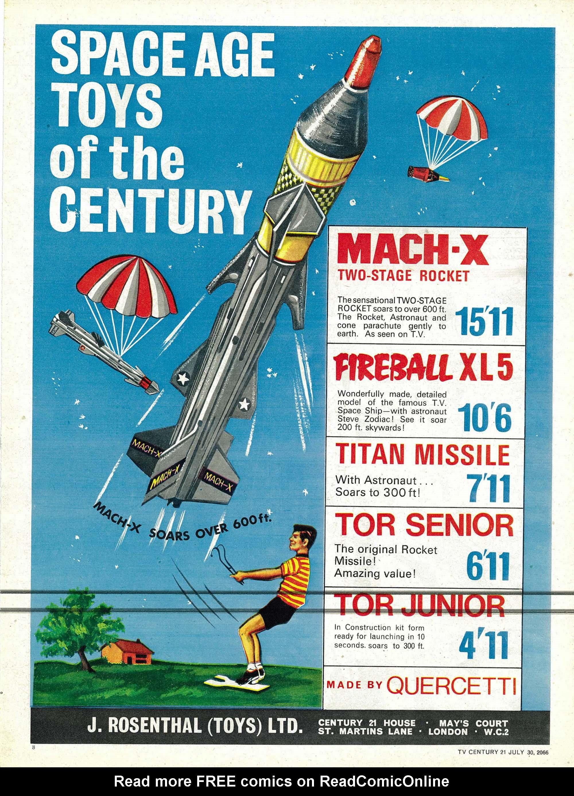 Read online TV Century 21 (TV 21) comic -  Issue #80 - 20