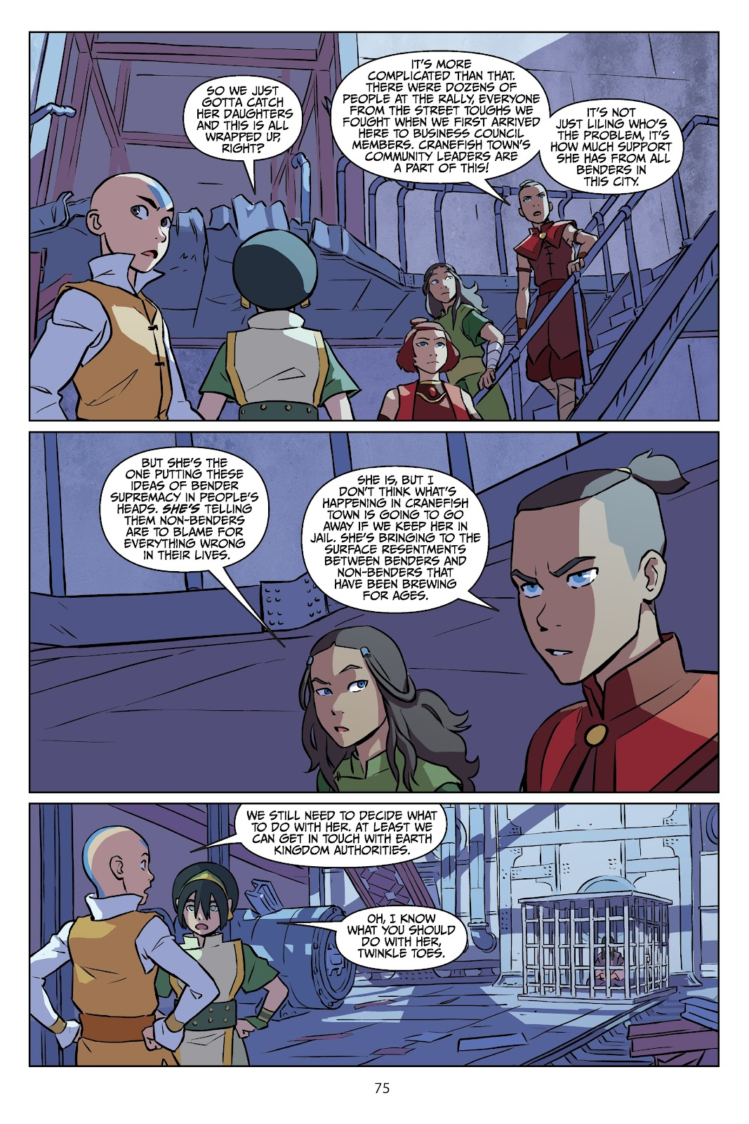Read online Nickelodeon Avatar: The Last Airbender - Imbalance comic -  Issue # TPB 2 - 76