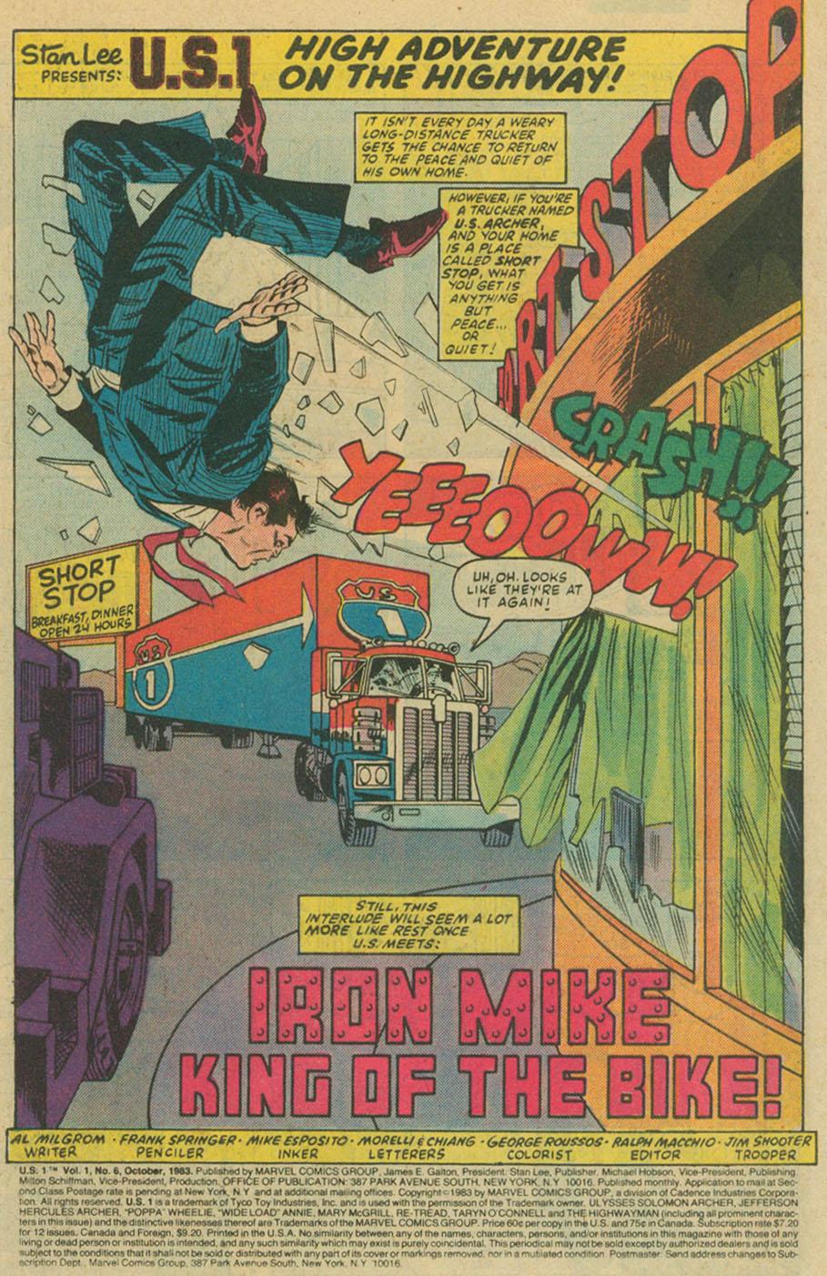 Read online U.S. 1 comic -  Issue #6 - 2