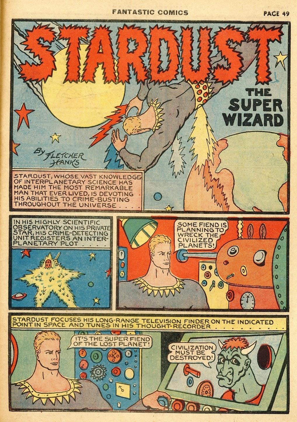 Read online Fantastic Comics comic -  Issue #10 - 50