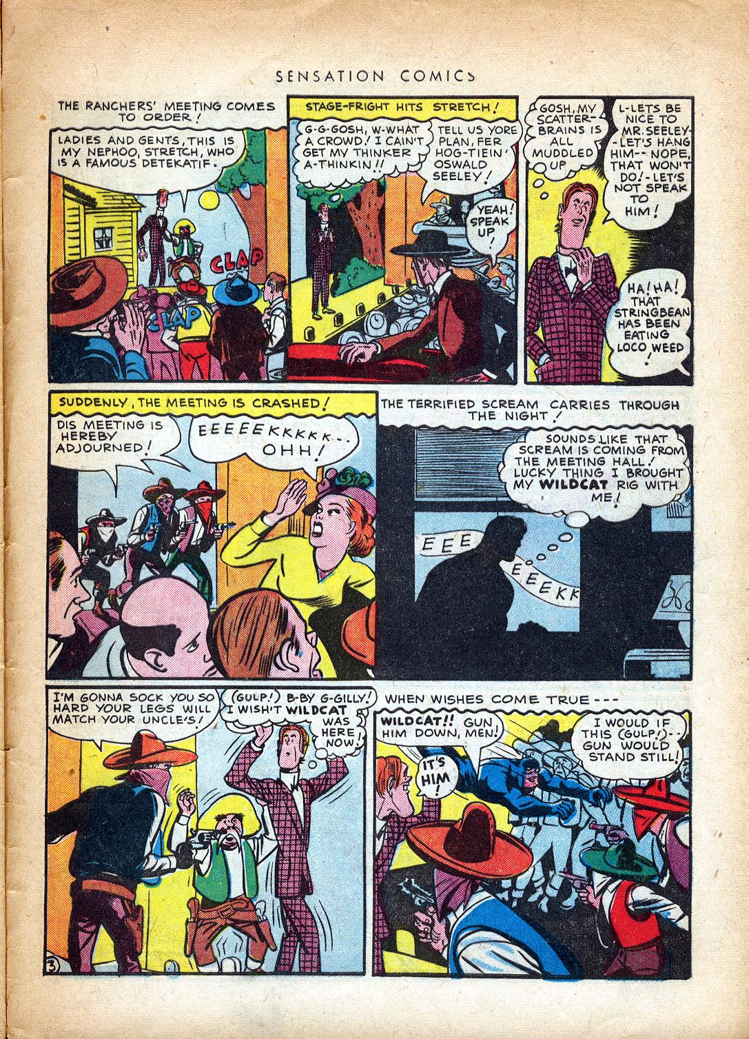 Read online Sensation (Mystery) Comics comic -  Issue #37 - 43