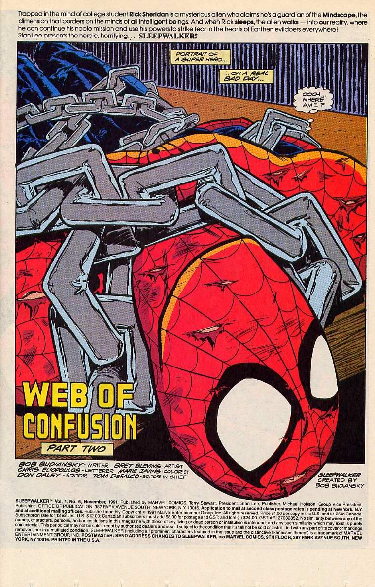 Read online Sleepwalker comic -  Issue #6 - 2