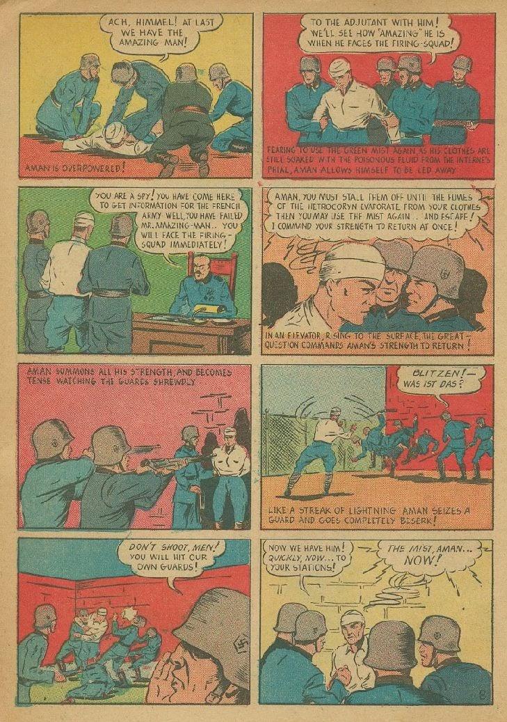 Read online Amazing Man Comics comic -  Issue #9 - 11