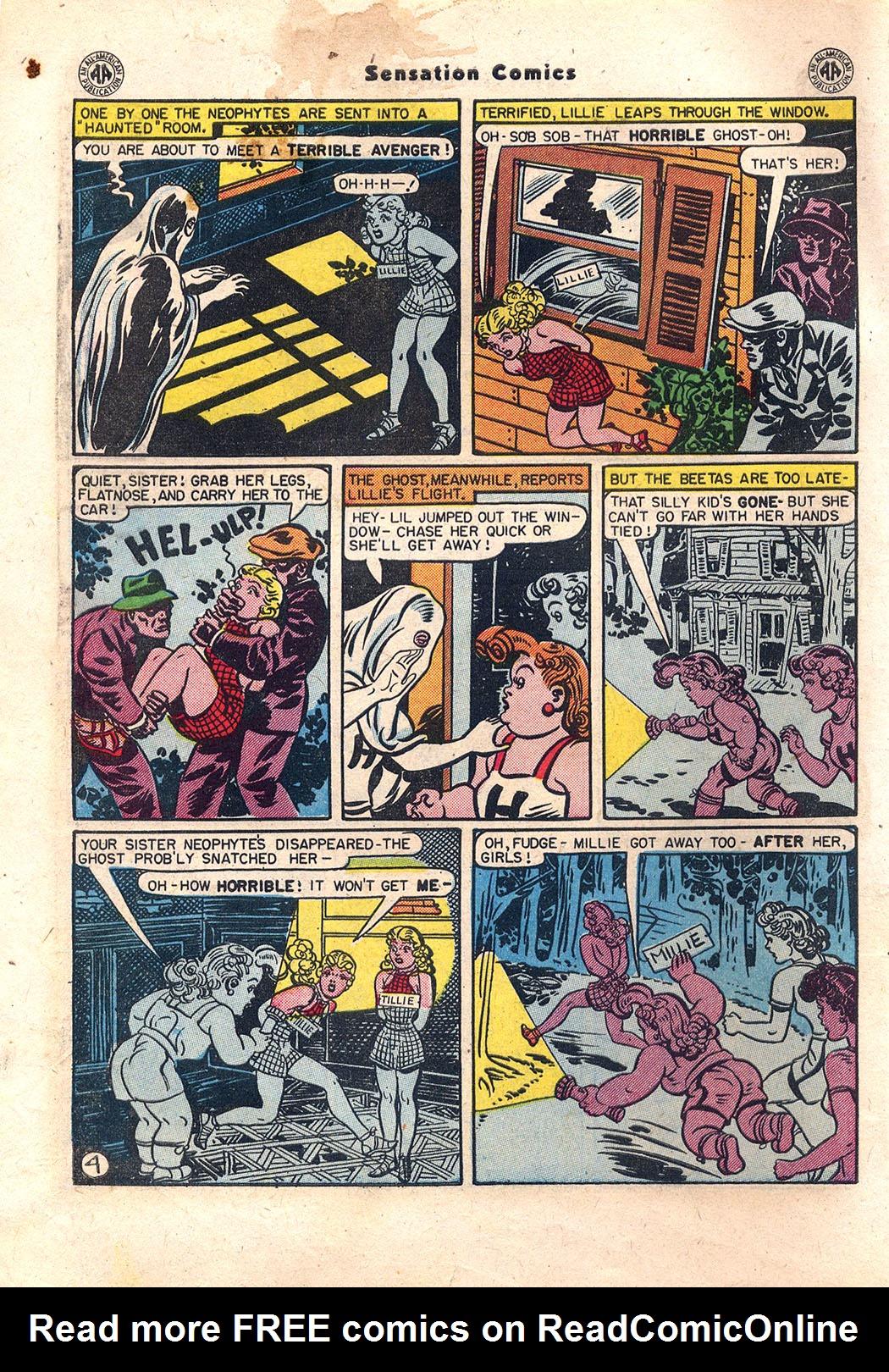 Read online Sensation (Mystery) Comics comic -  Issue #43 - 5