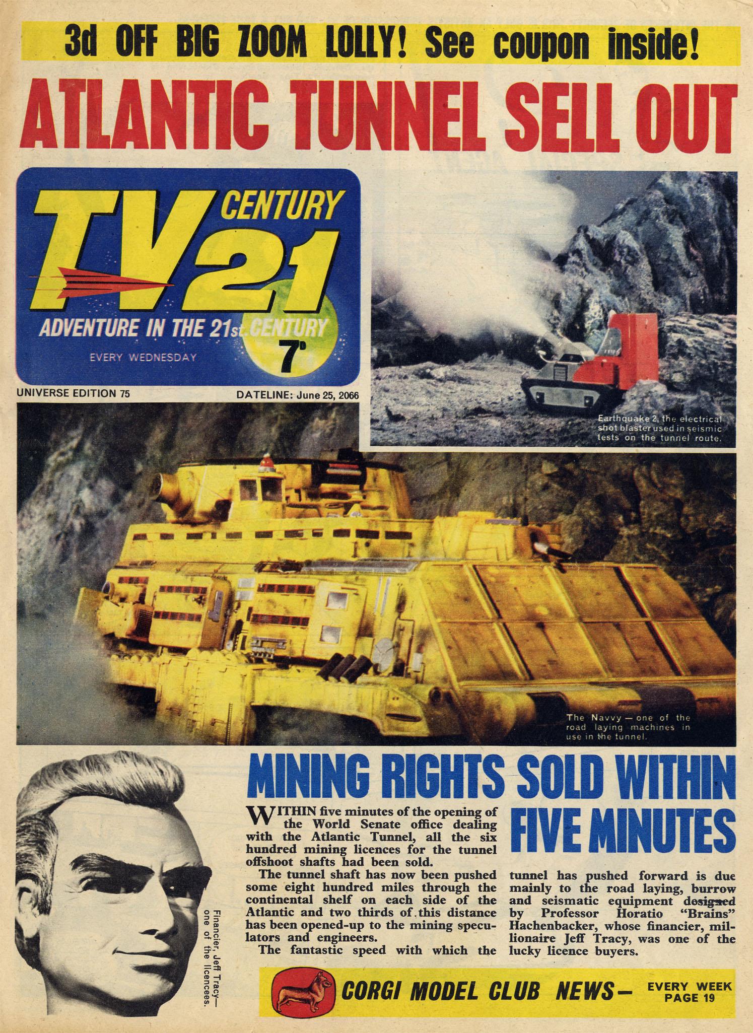 Read online TV Century 21 (TV 21) comic -  Issue #75 - 1