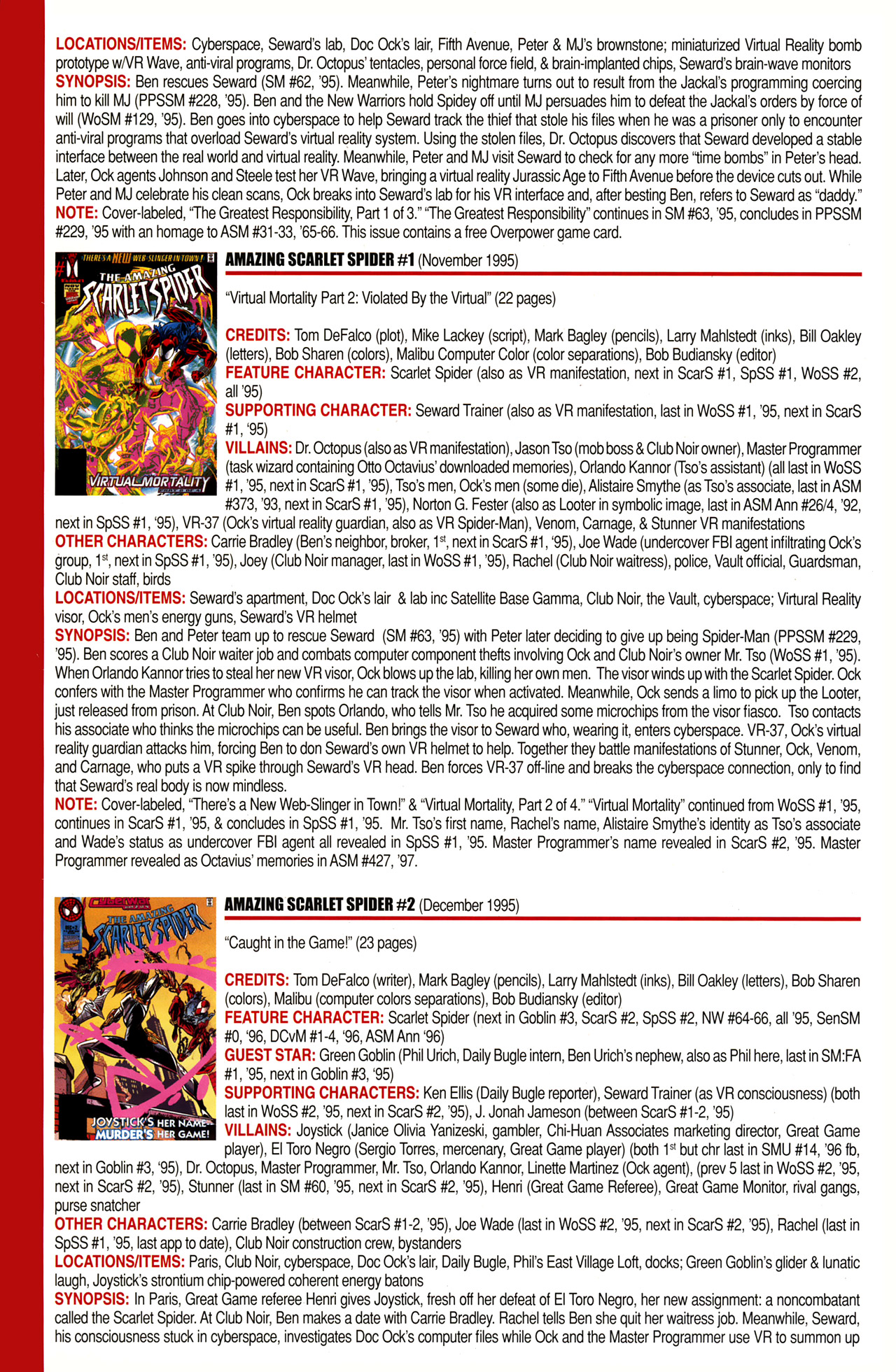 Read online Official Index to the Marvel Universe comic -  Issue #10 - 6