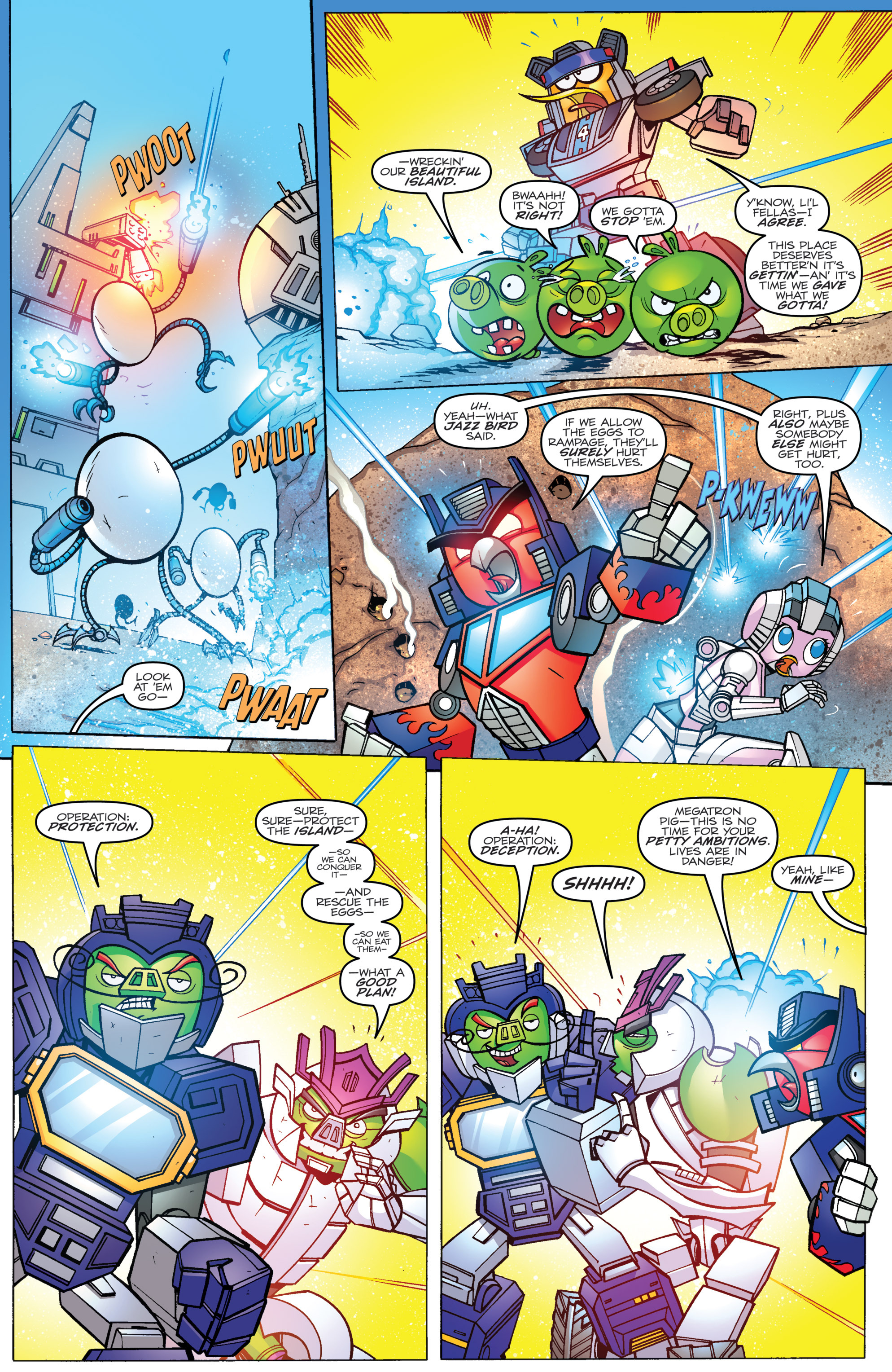 Read online Angry Birds Transformers comic -  Issue #3 - 5