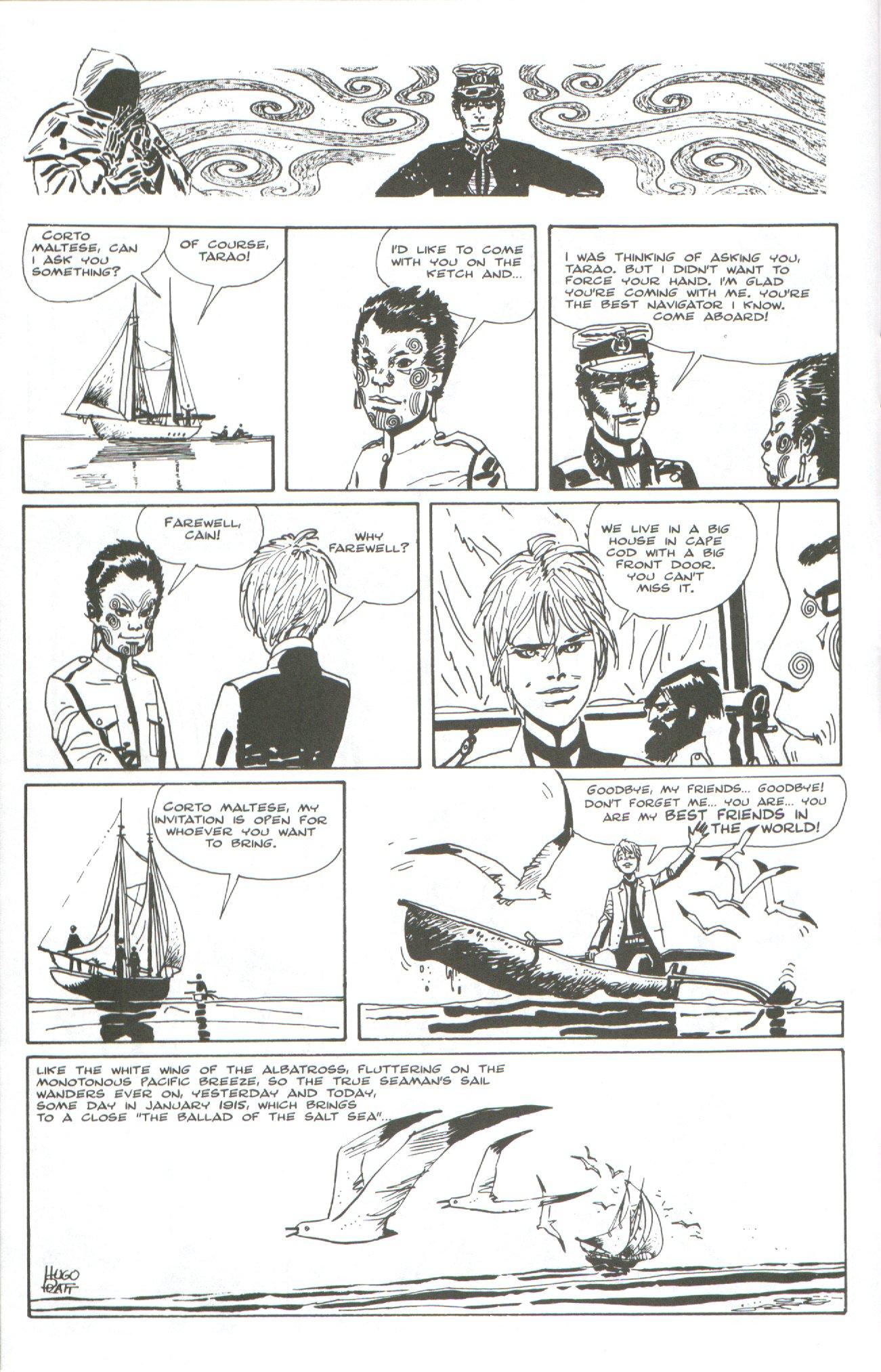 Read online Corto Maltese: Ballad of the Salt Sea comic -  Issue #7 - 22