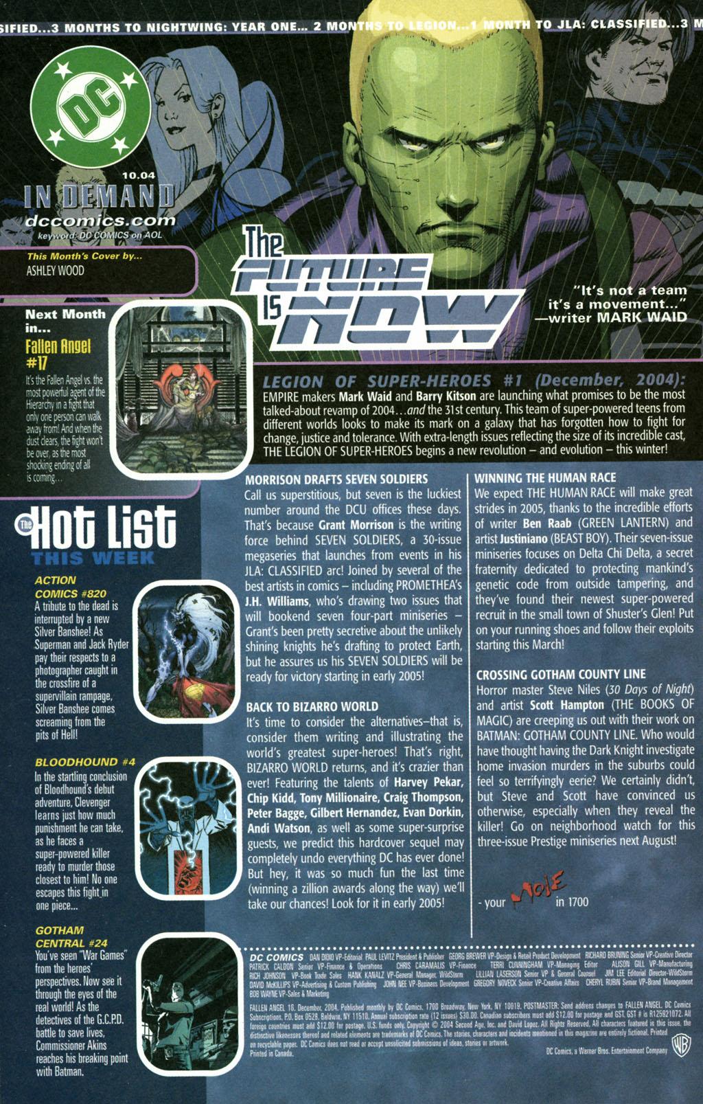 Read online Fallen Angel (2003) comic -  Issue #16 - 24