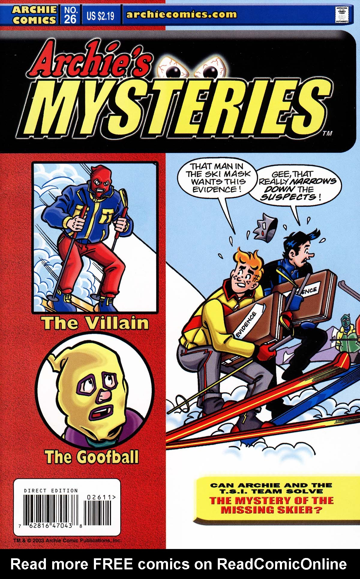 Read online Archie's Weird Mysteries comic -  Issue #26 - 1