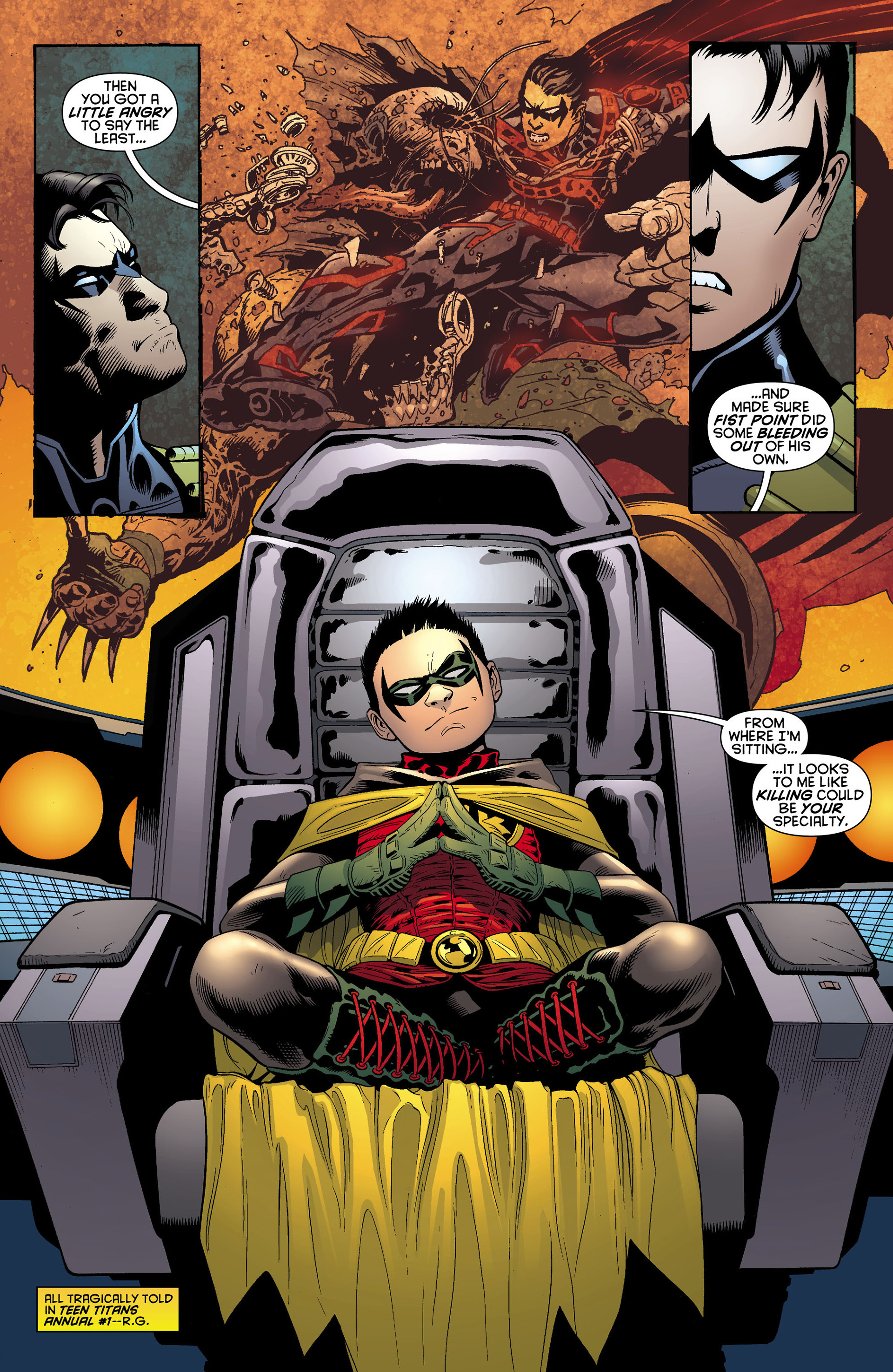 Read online Batman and Robin (2011) comic -  Issue #10 - 16