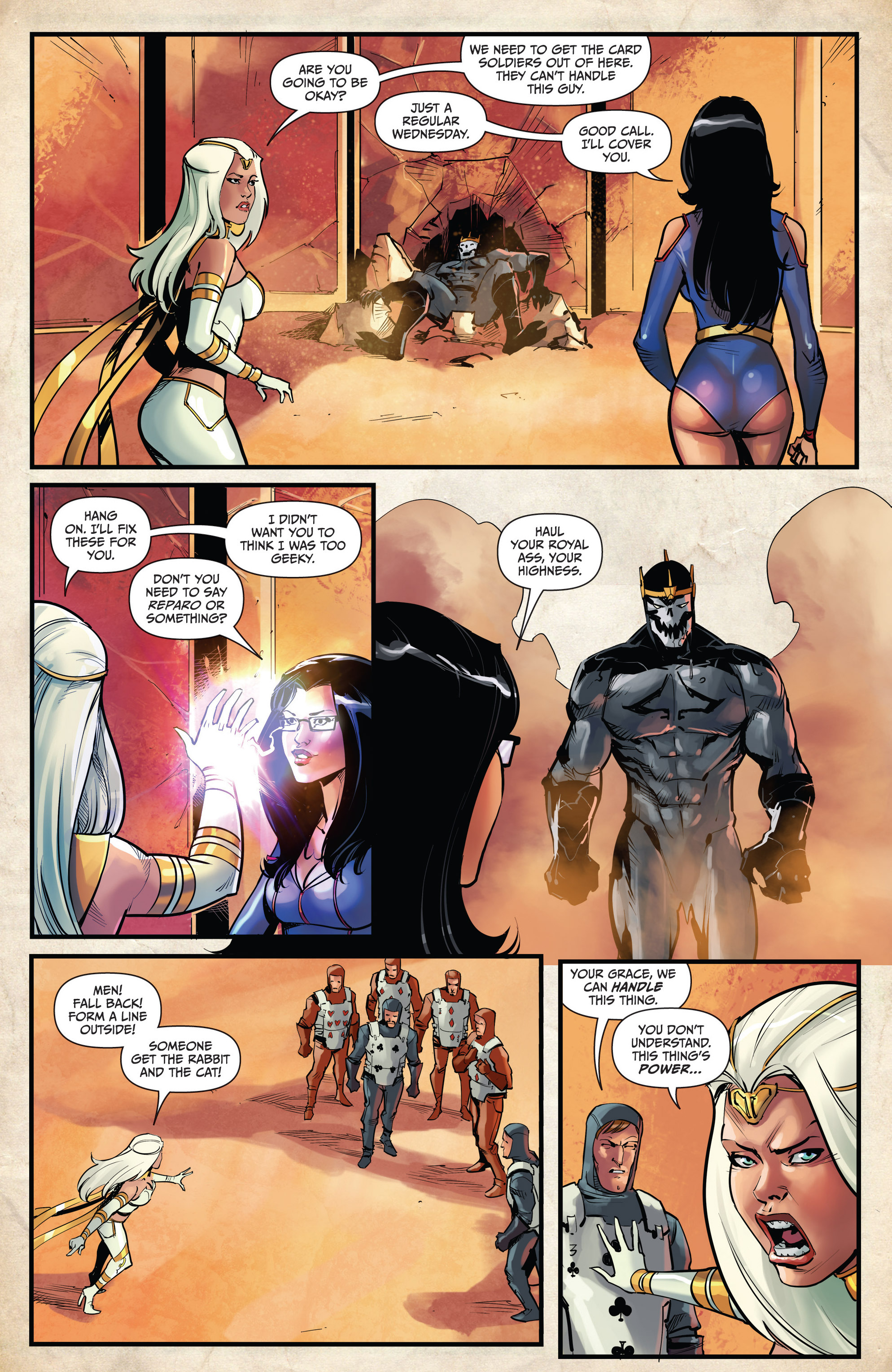 Read online Grimm Fairy Tales vs. Wonderland comic -  Issue #4 - 6