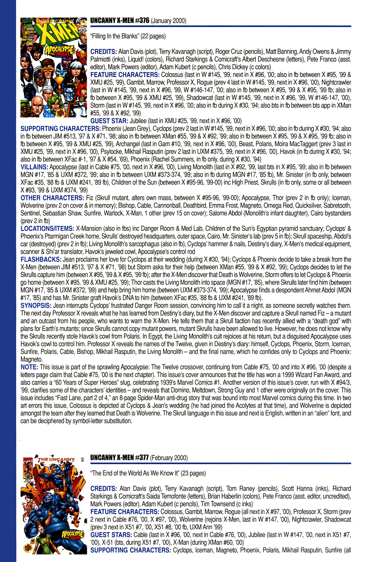 Read online Official Index to the Marvel Universe comic -  Issue #10 - 46