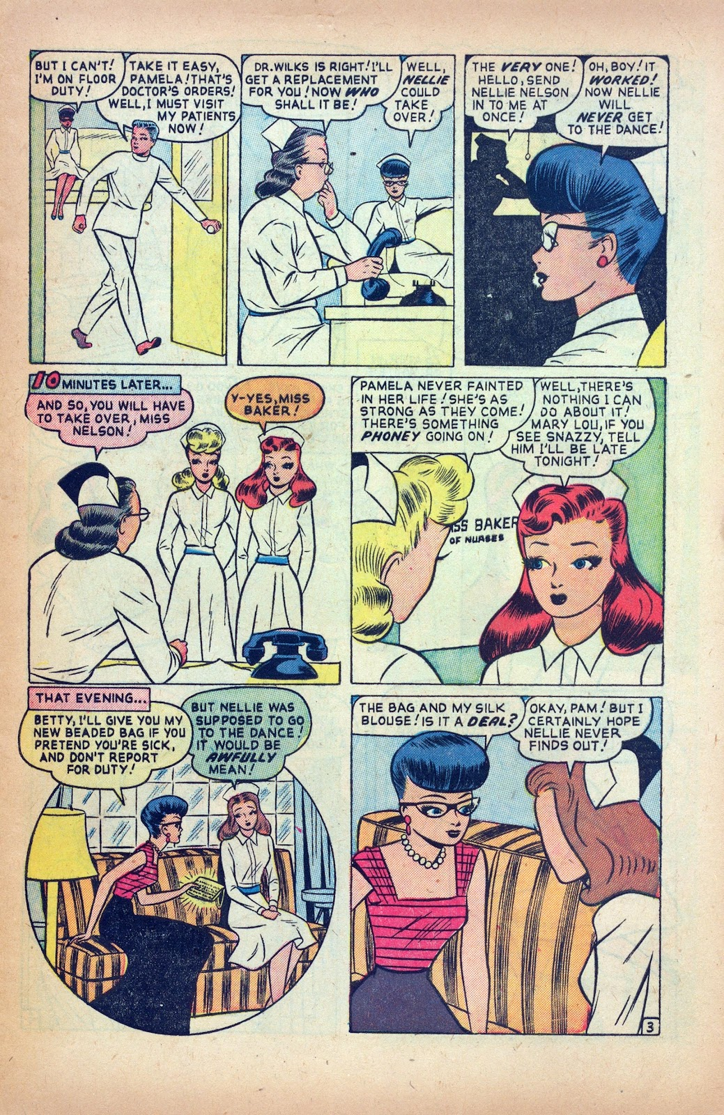 Read online Nellie The Nurse (1945) comic -  Issue #24 - 5