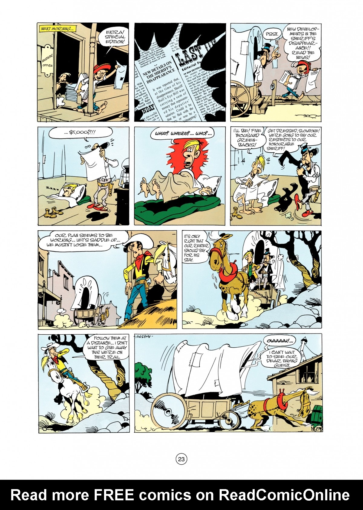 Read online A Lucky Luke Adventure comic -  Issue #38 - 23