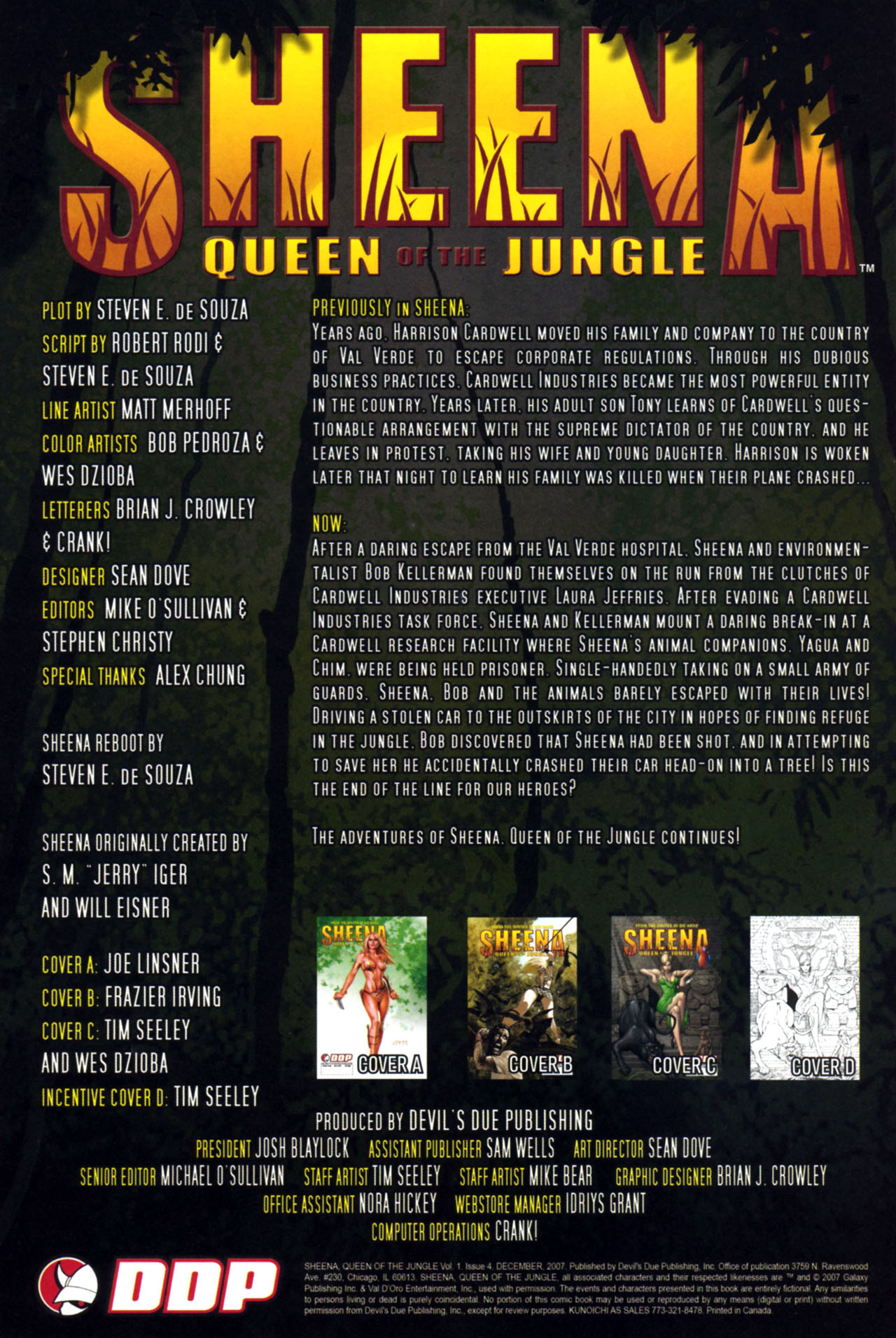 Read online Sheena, Queen of the Jungle comic -  Issue #4 - 2