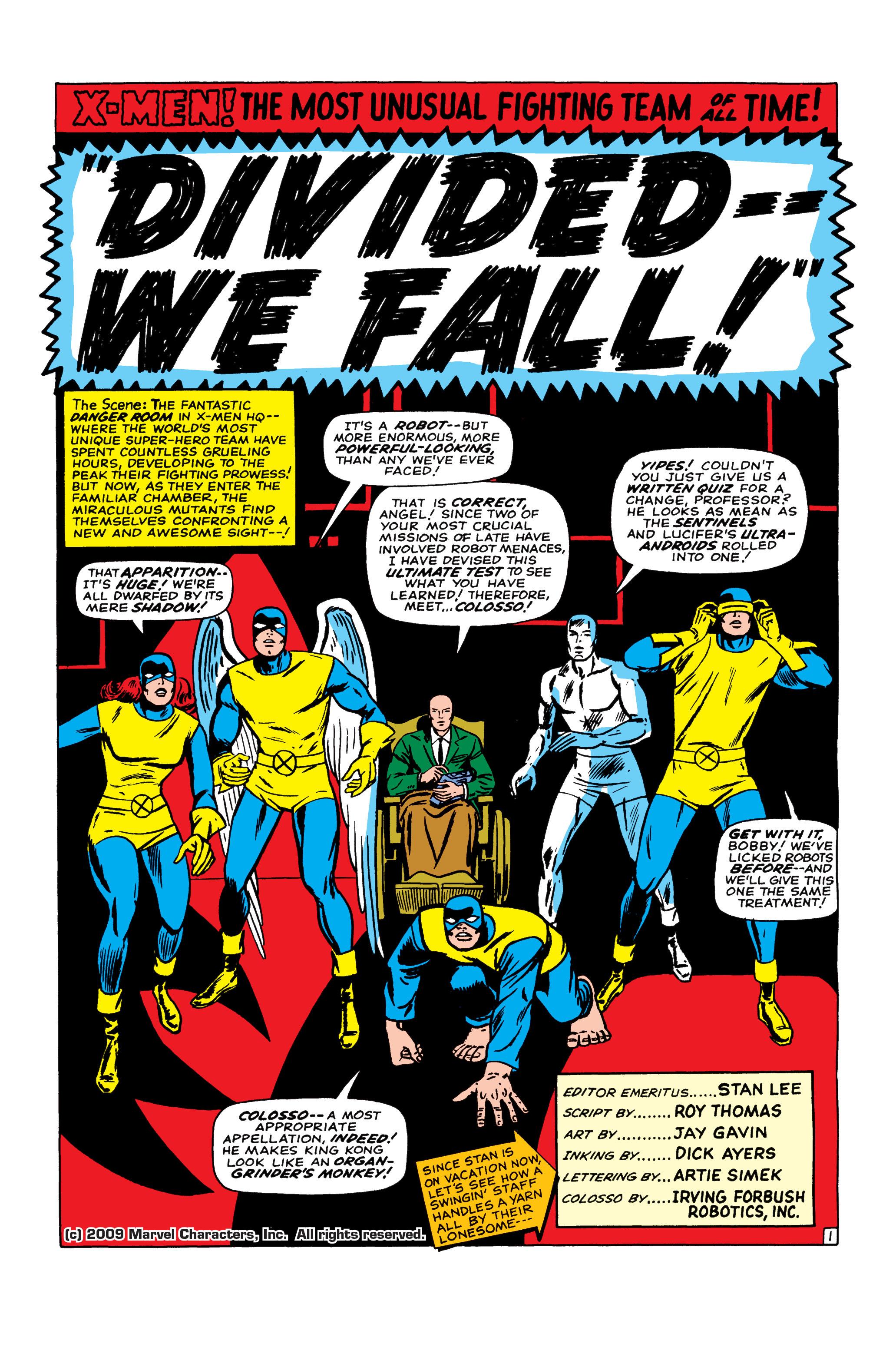 Read online Uncanny X-Men (1963) comic -  Issue #22 - 2