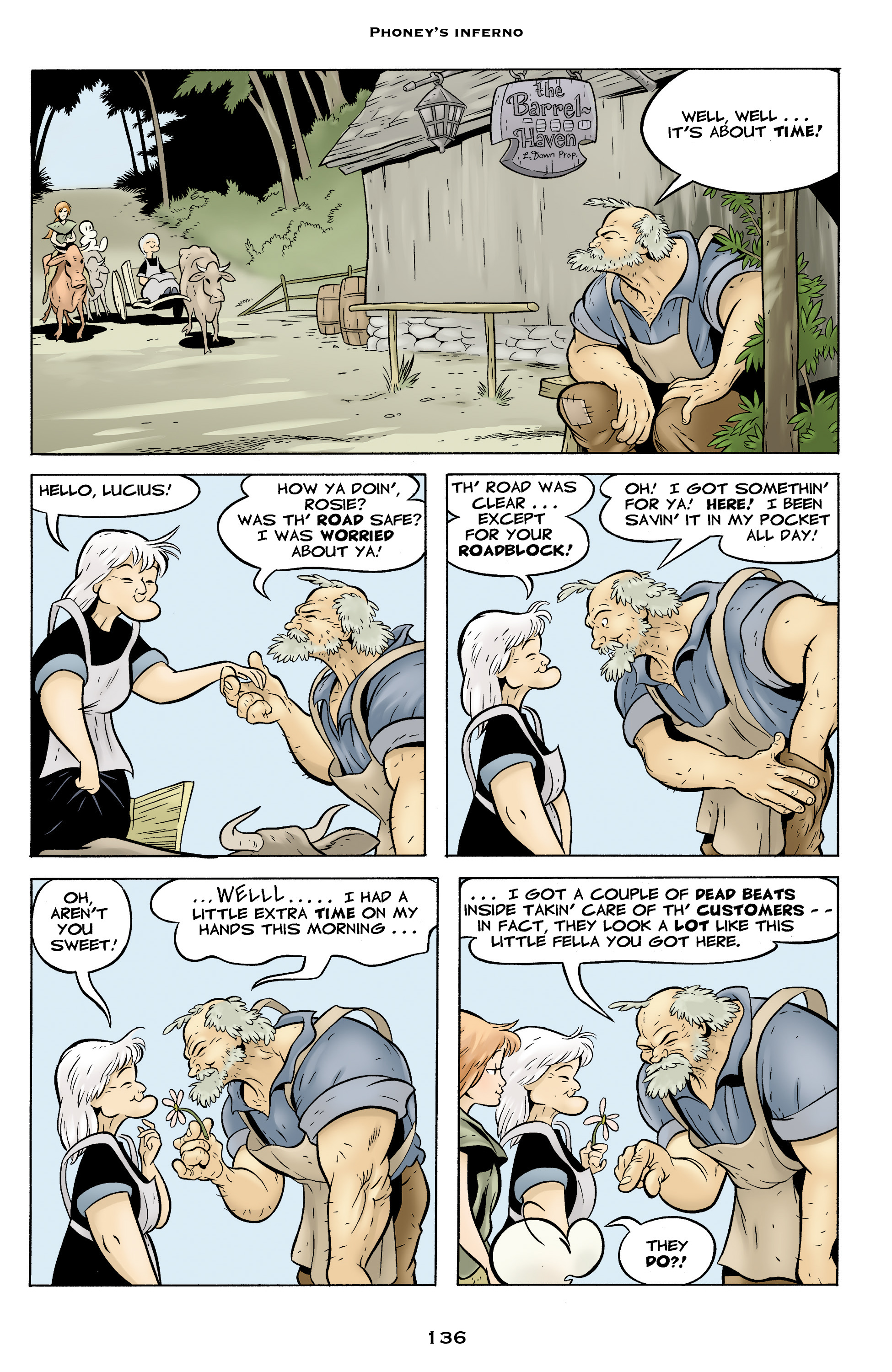 Read online Bone: Out From Boneville comic -  Issue # TPB - 136