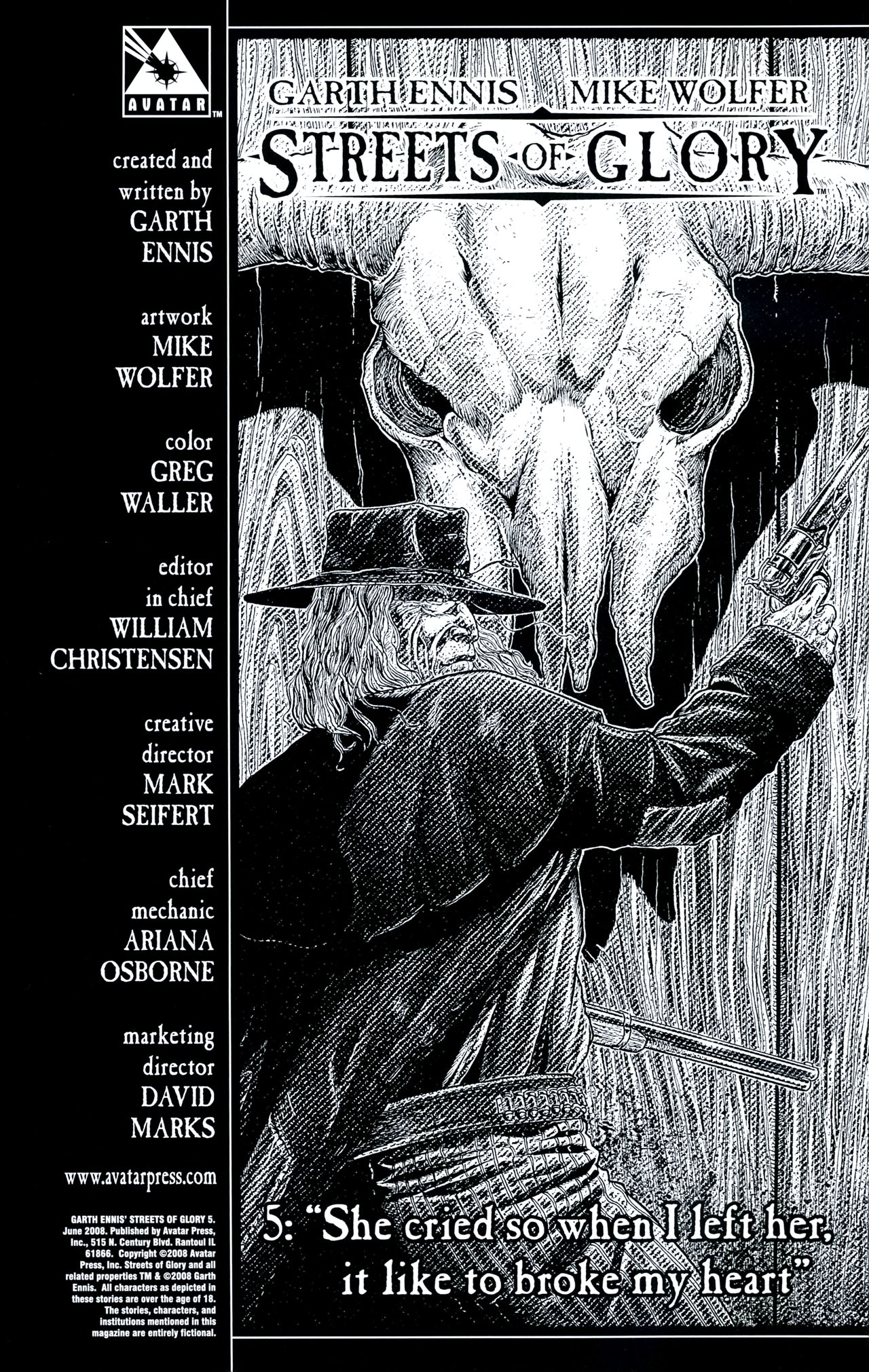 Read online Garth Ennis' Streets of Glory comic -  Issue #5 - 2