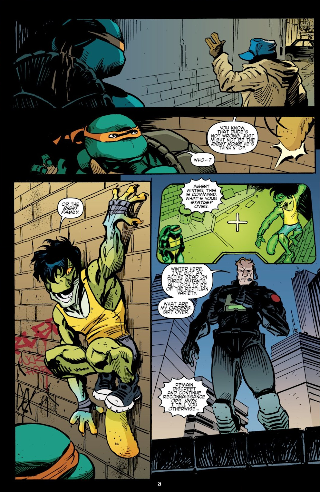 Read online Teenage Mutant Ninja Turtles: The IDW Collection comic -  Issue # TPB 7 (Part 1) - 21