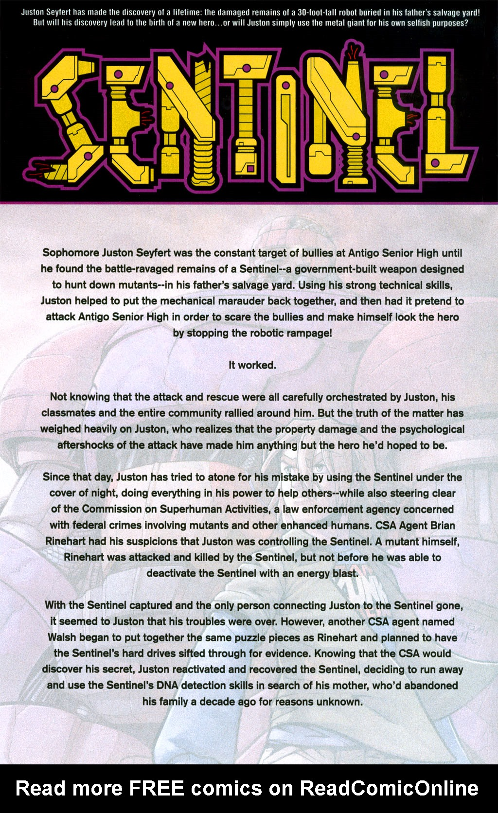 Read online Sentinel (2006) comic -  Issue #1 - 7