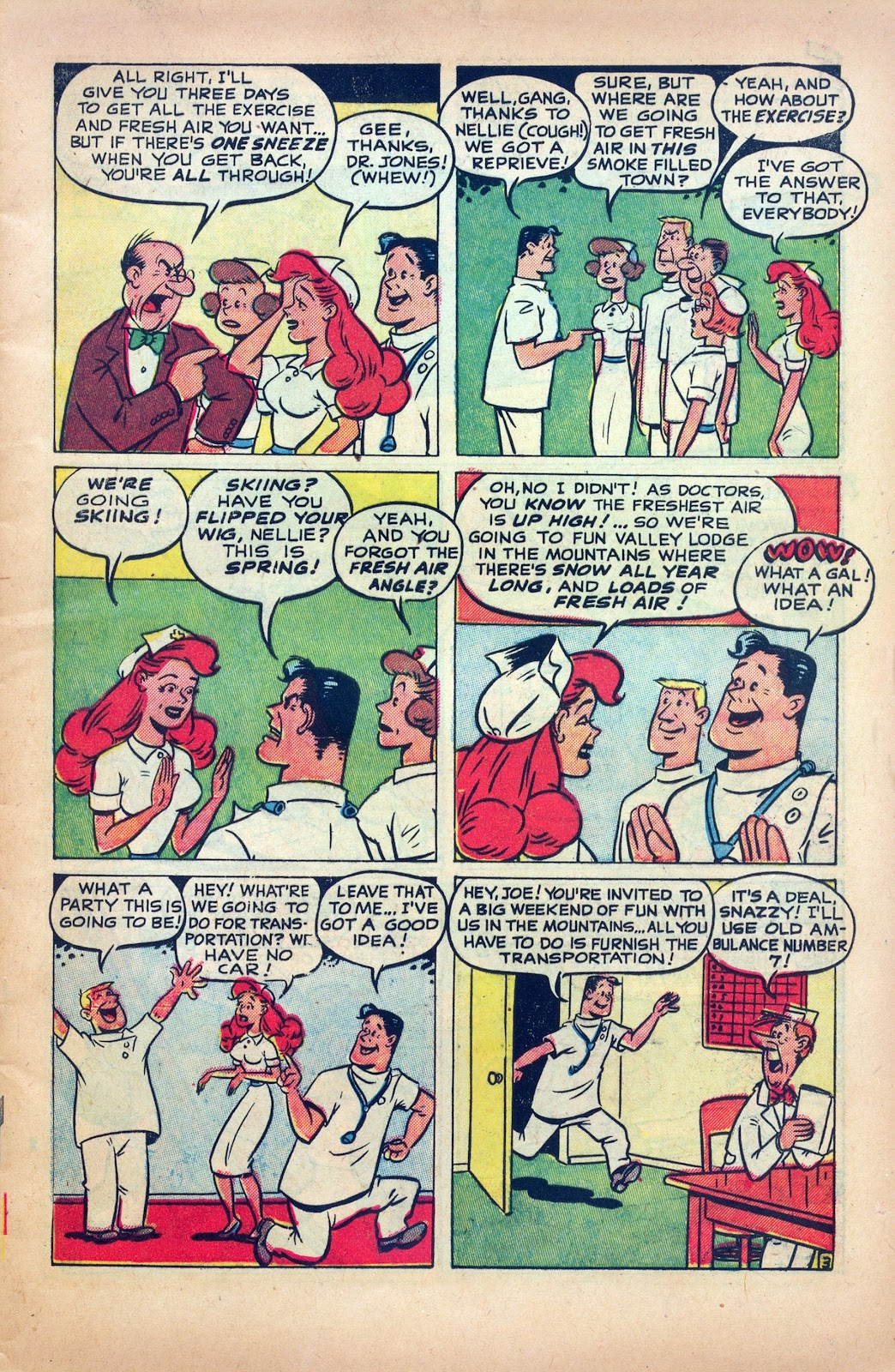 Read online Nellie The Nurse (1945) comic -  Issue #25 - 5