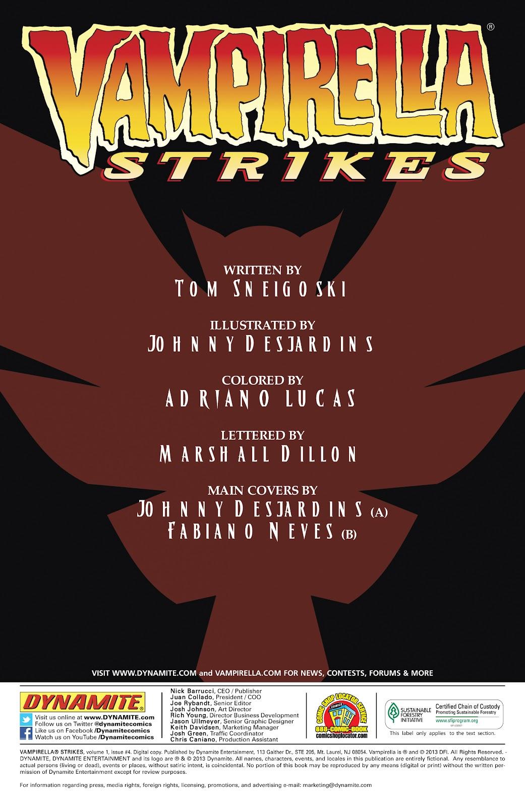 Read online Vampirella Strikes comic -  Issue #4 - 3
