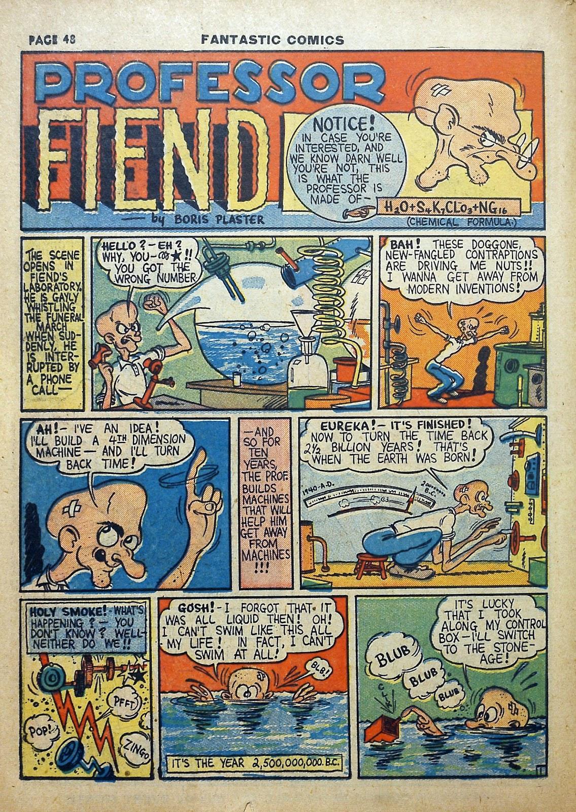 Read online Fantastic Comics comic -  Issue #5 - 49