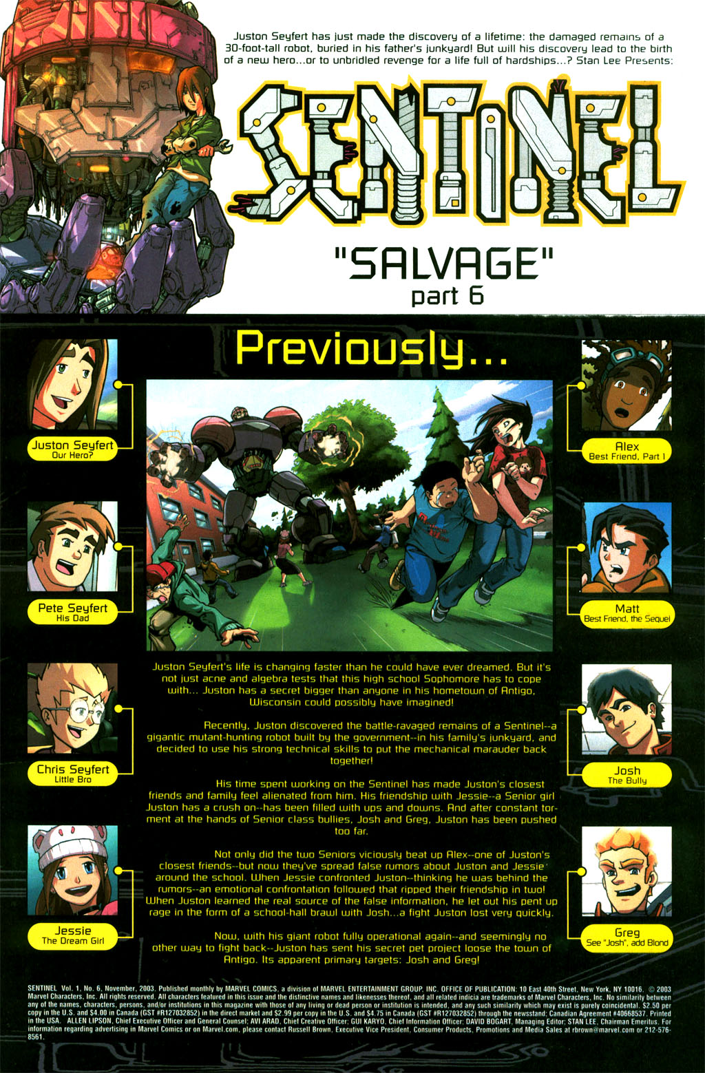 Read online Sentinel comic -  Issue #6 - 2