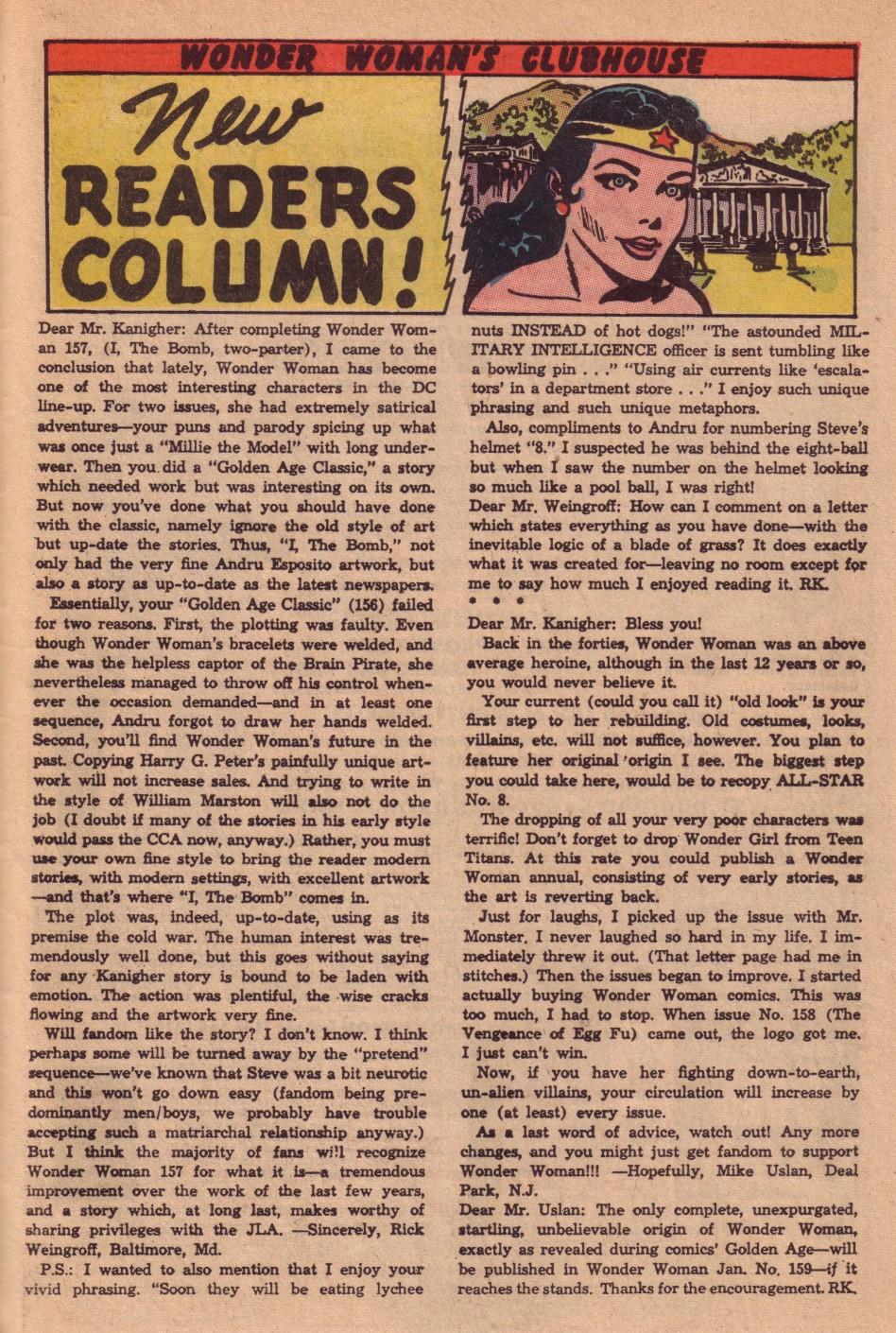 Read online Wonder Woman (1942) comic -  Issue #161 - 33