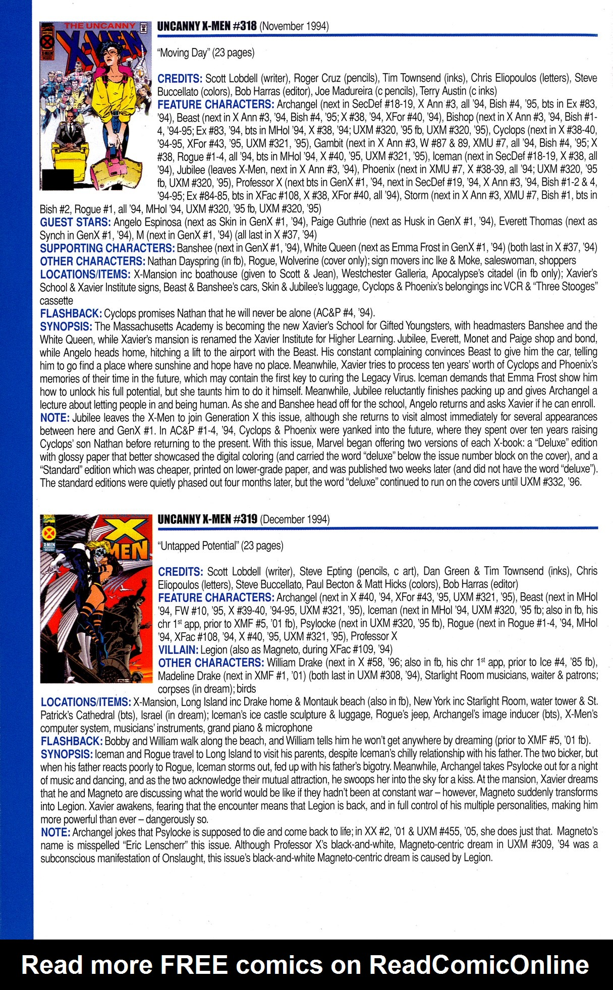 Read online Official Index to the Marvel Universe comic -  Issue #8 - 54