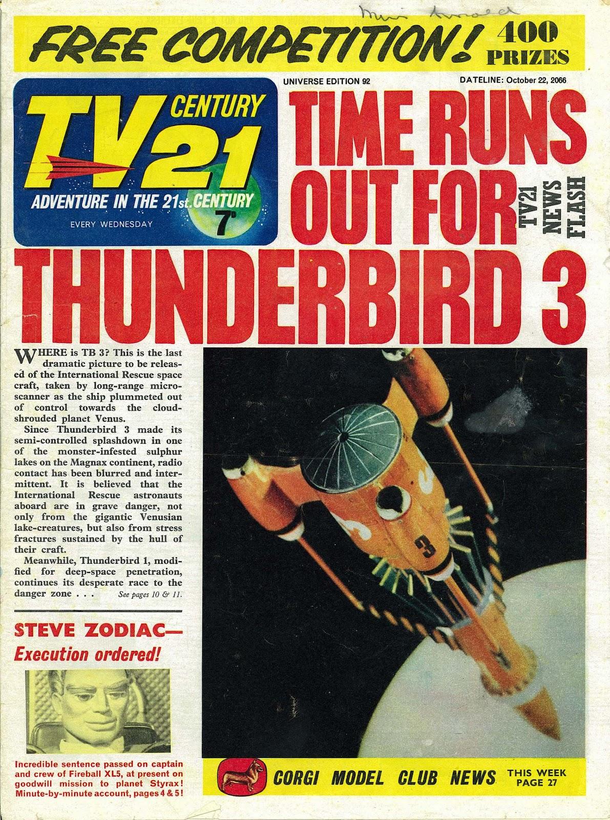 TV Century 21 (TV 21) issue 92 - Page 1