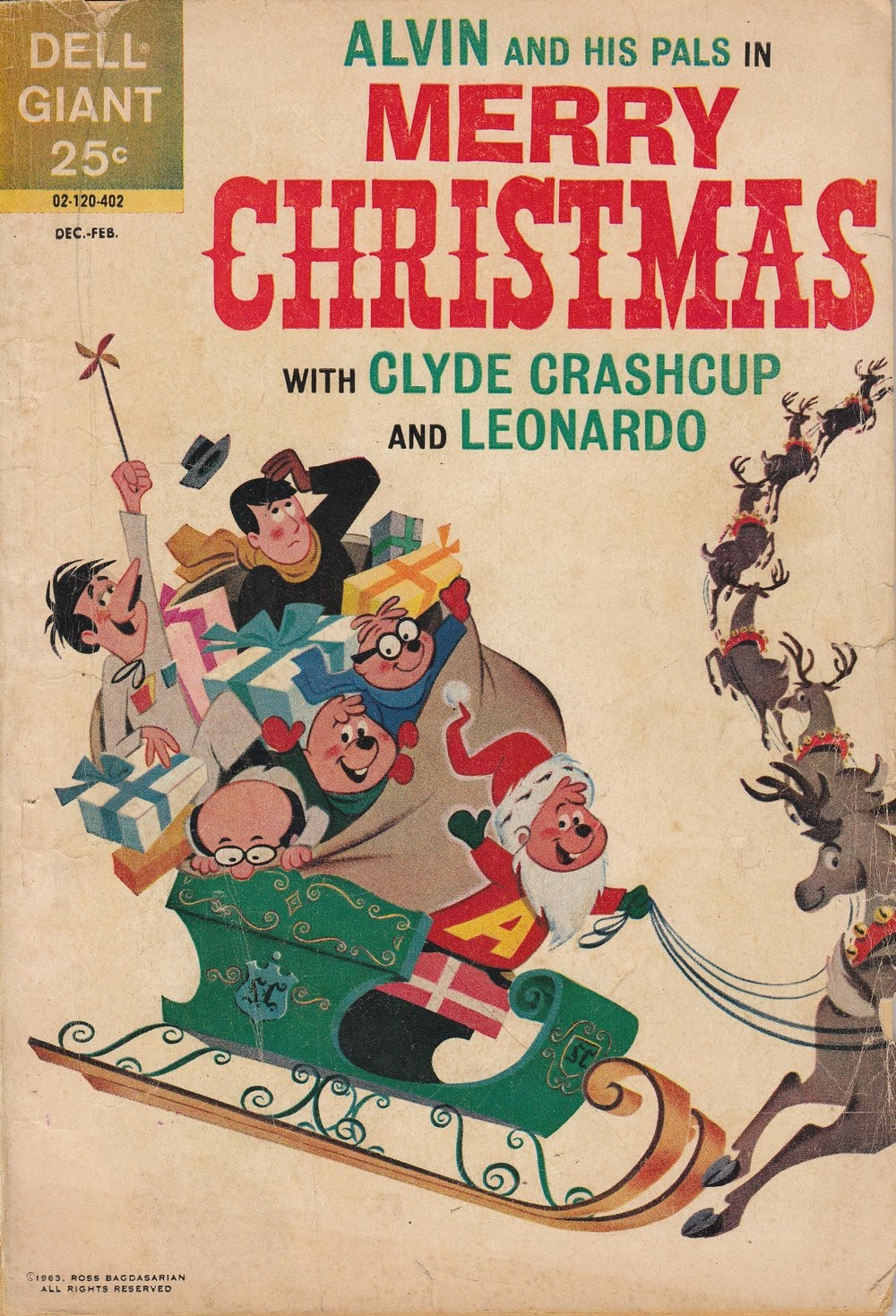Alvin and His Pals in Merry Christmas with Clyde Crashcup and Leonardo issue Full - Page 1