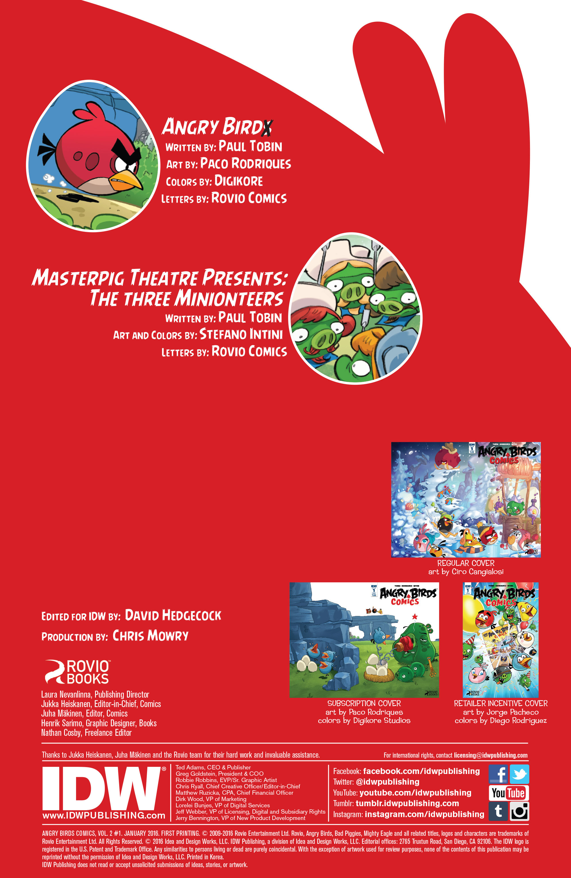 Read online Angry Birds Comics (2016) comic -  Issue #1 - 2