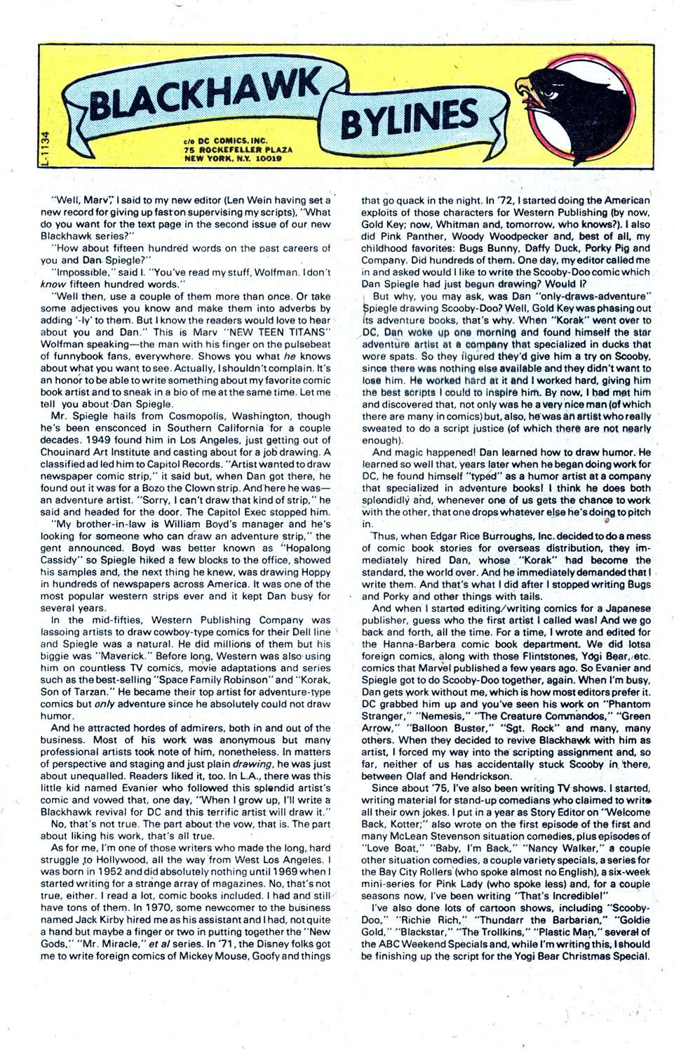 Read online Blackhawk (1957) comic -  Issue #252 - 32