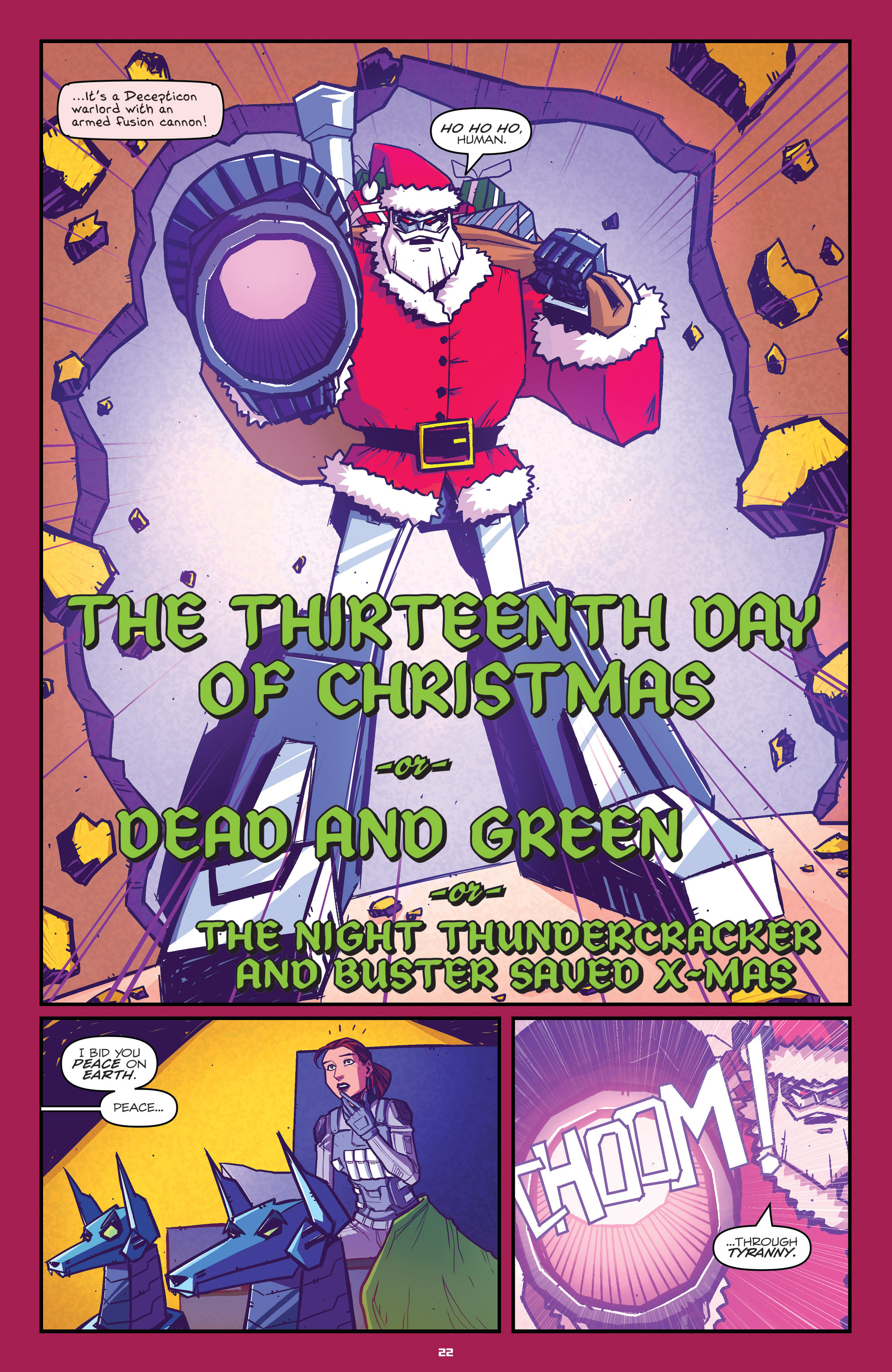 Read online Transformers: Holiday Special comic -  Issue # Full - 24