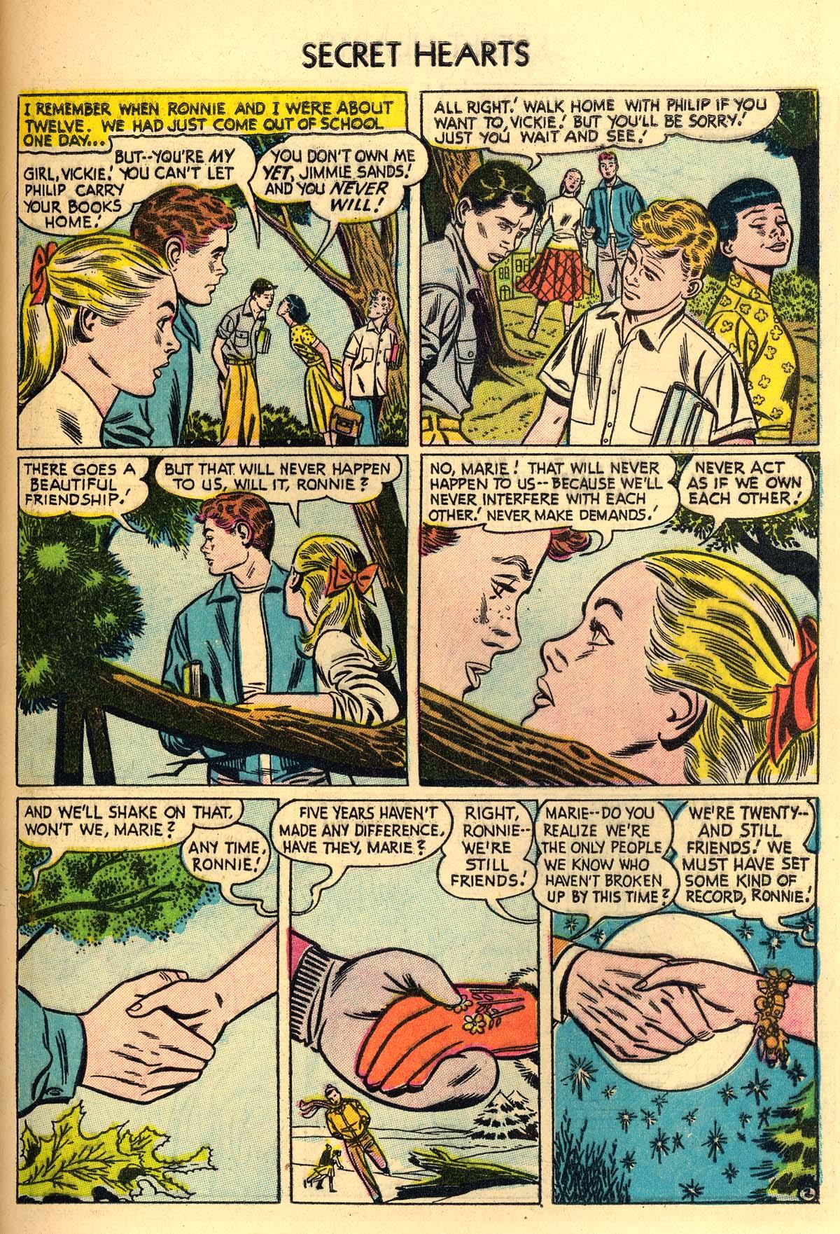 Read online Secret Hearts comic -  Issue #30 - 27